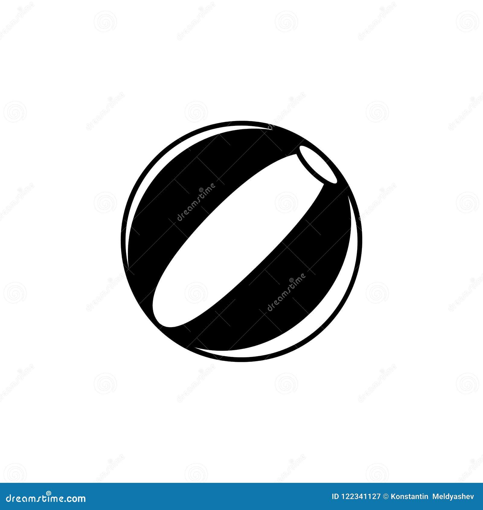 Символ знака значка шарика пляжа изолированный иллюстрацией