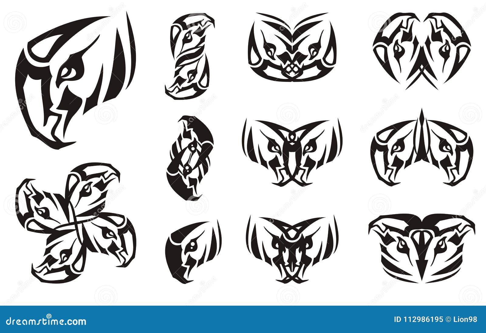 Символ орла головной и двойные символы от его
