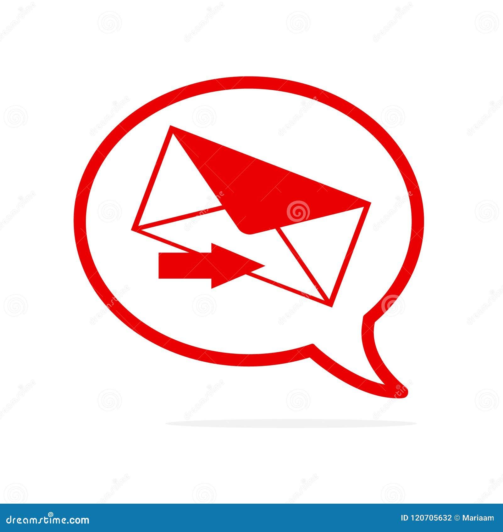 Символ сообщения в пузыре речи! Дизайн значка вектора плоский Онлайн сообщения и сеть