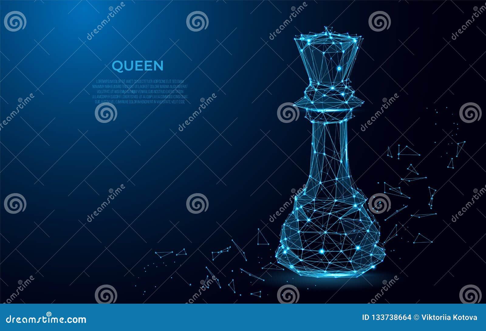 Символ ферзя шахмат силы Абстрактное изображение роскошной силы в форме звездных неба или космоса