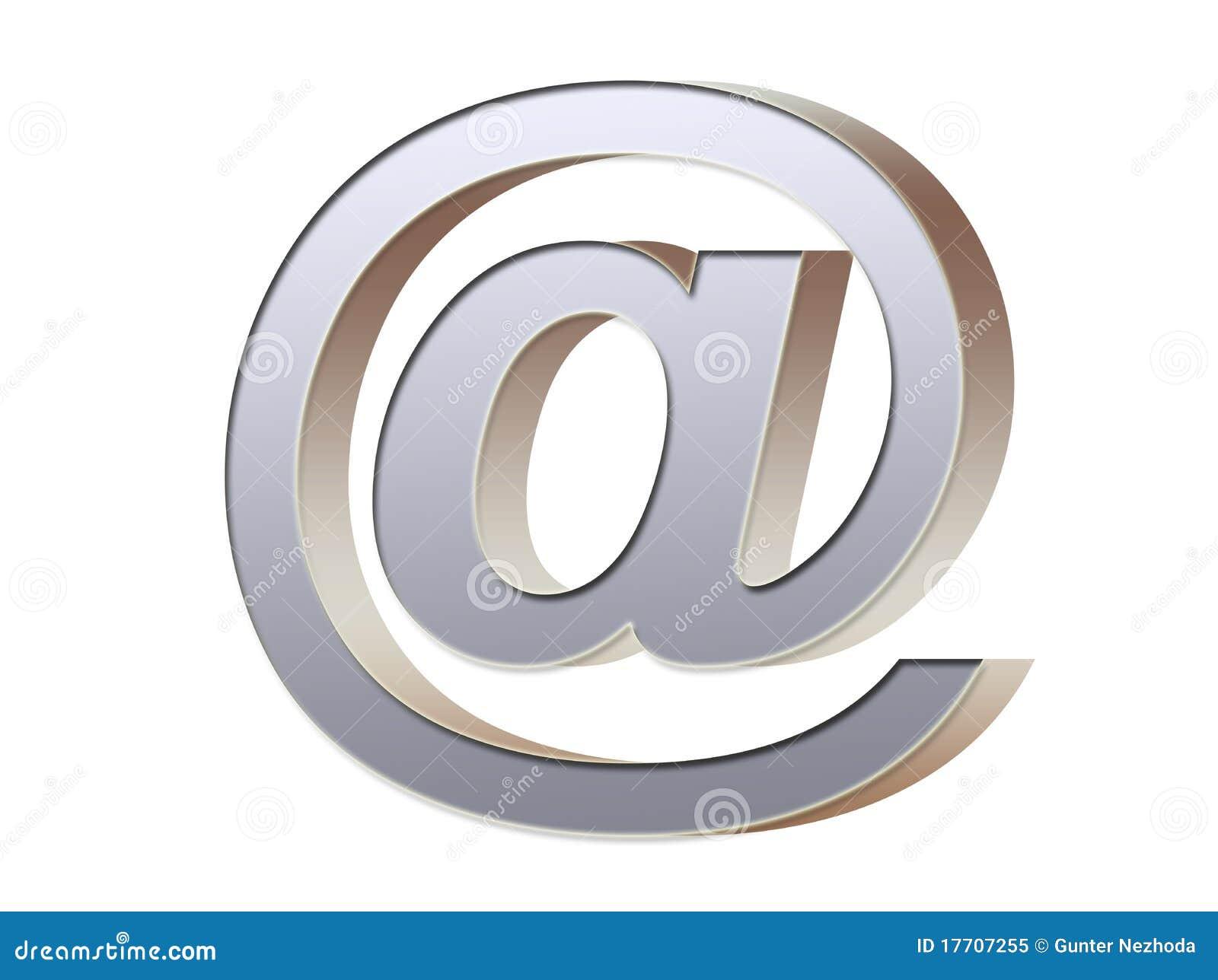 символ электронной почты