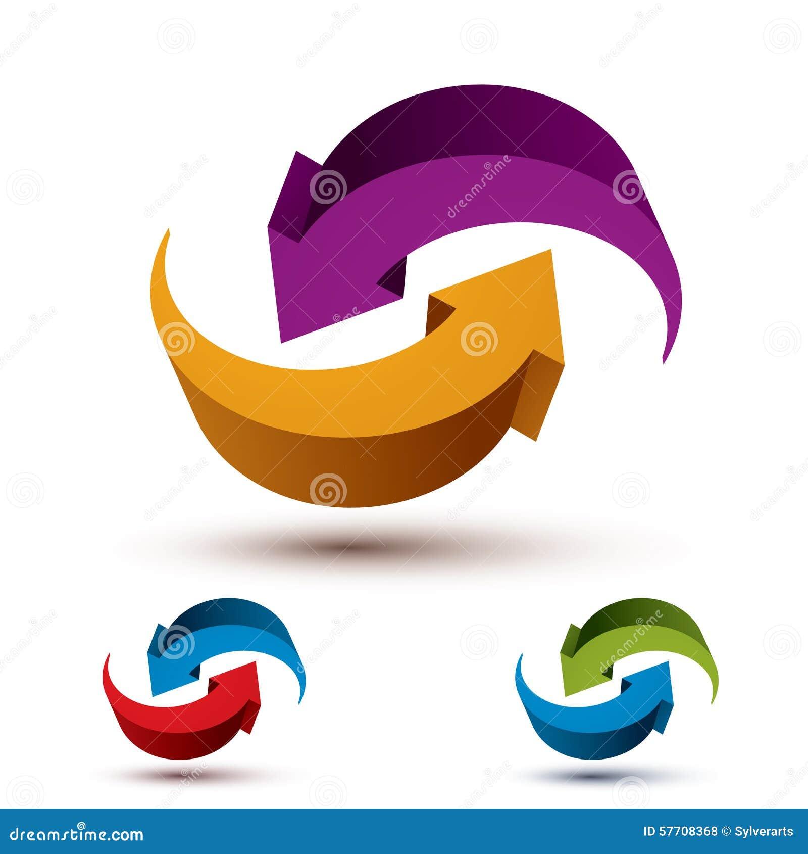Символ вектора стрелок бесконечного цикла абстрактный, графический дизайн