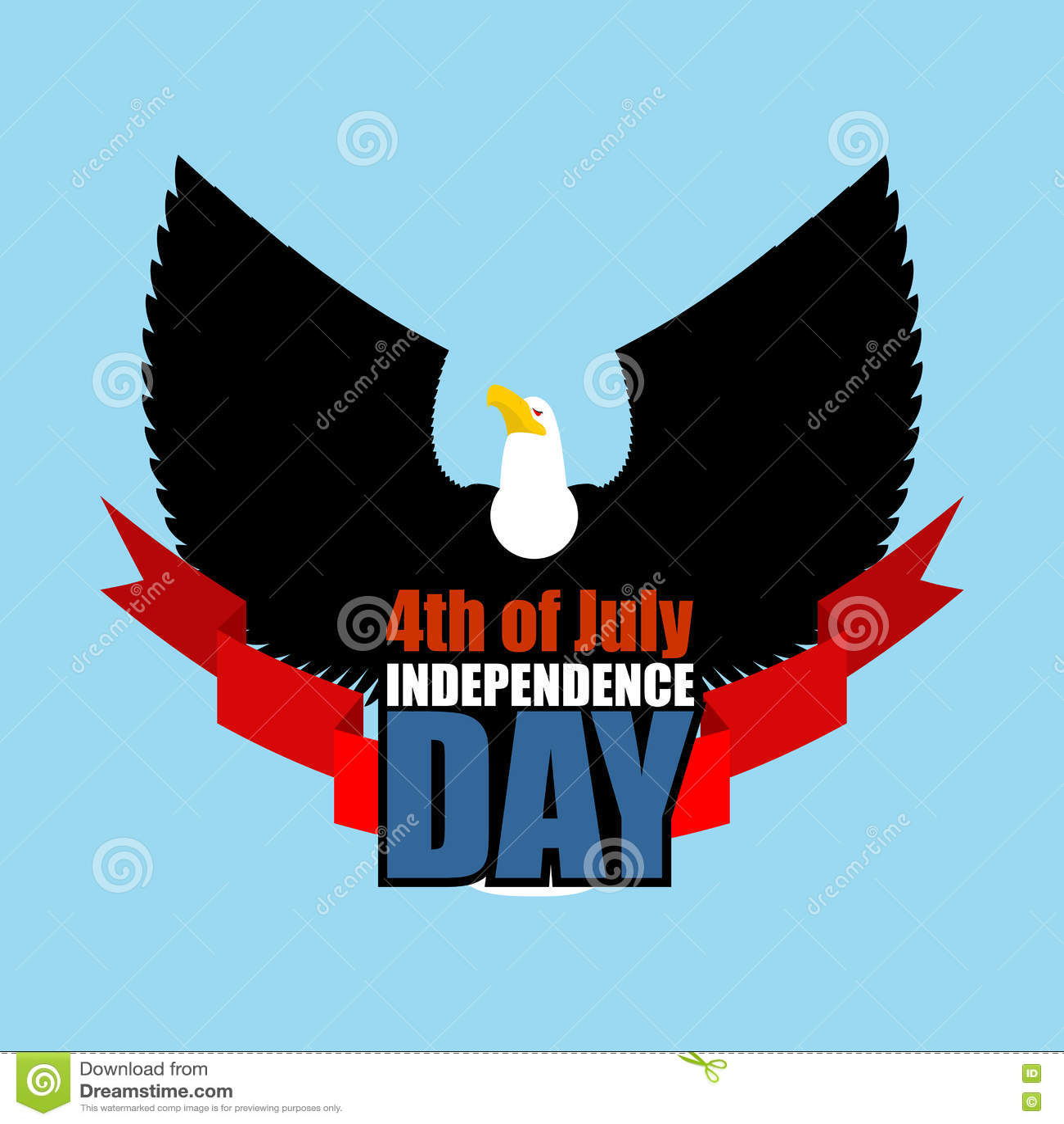 Символ Дня независимости орла летания Америки Хищник птицы