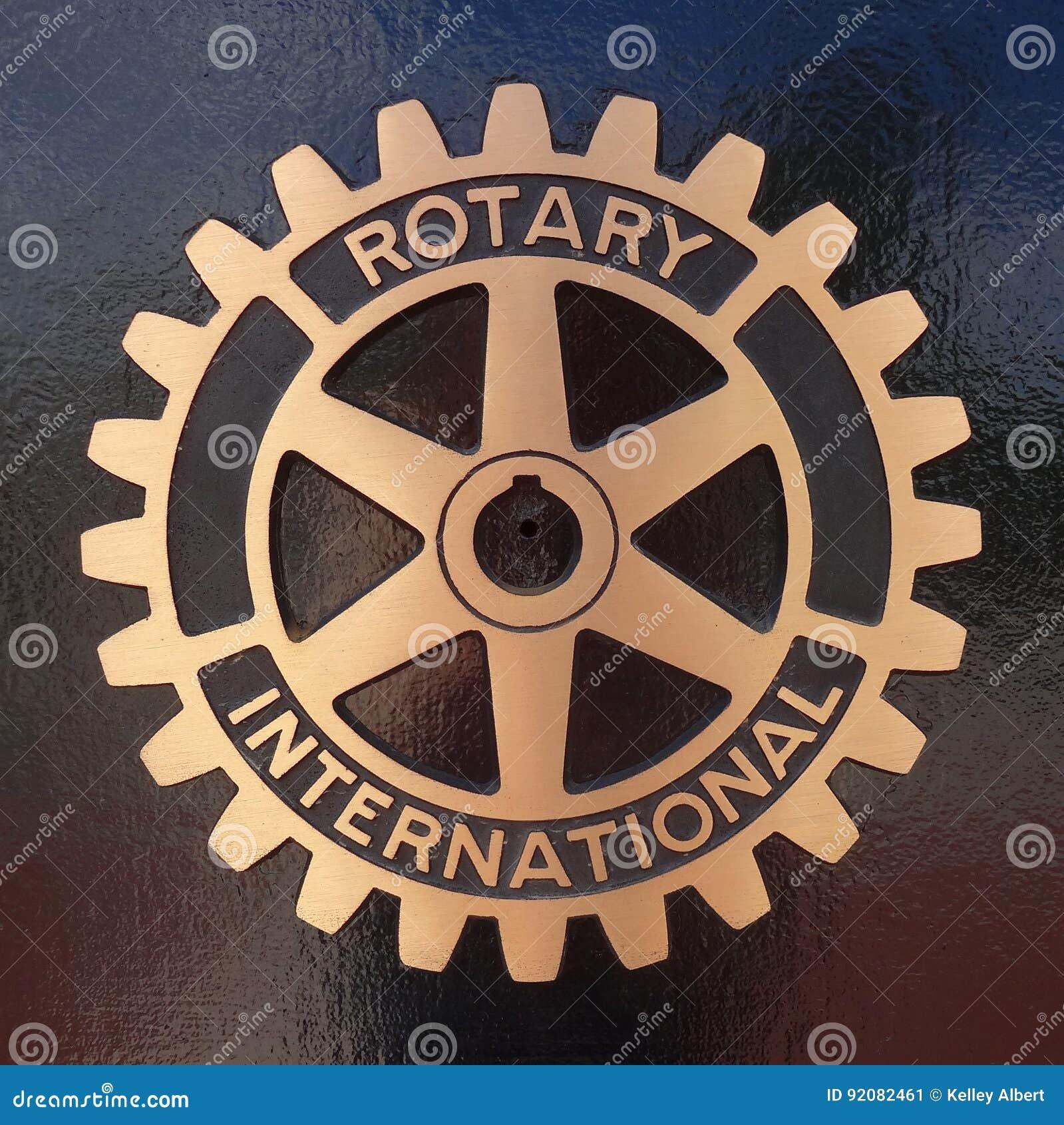 Символ и металлическая пластинка роторного клуба международный