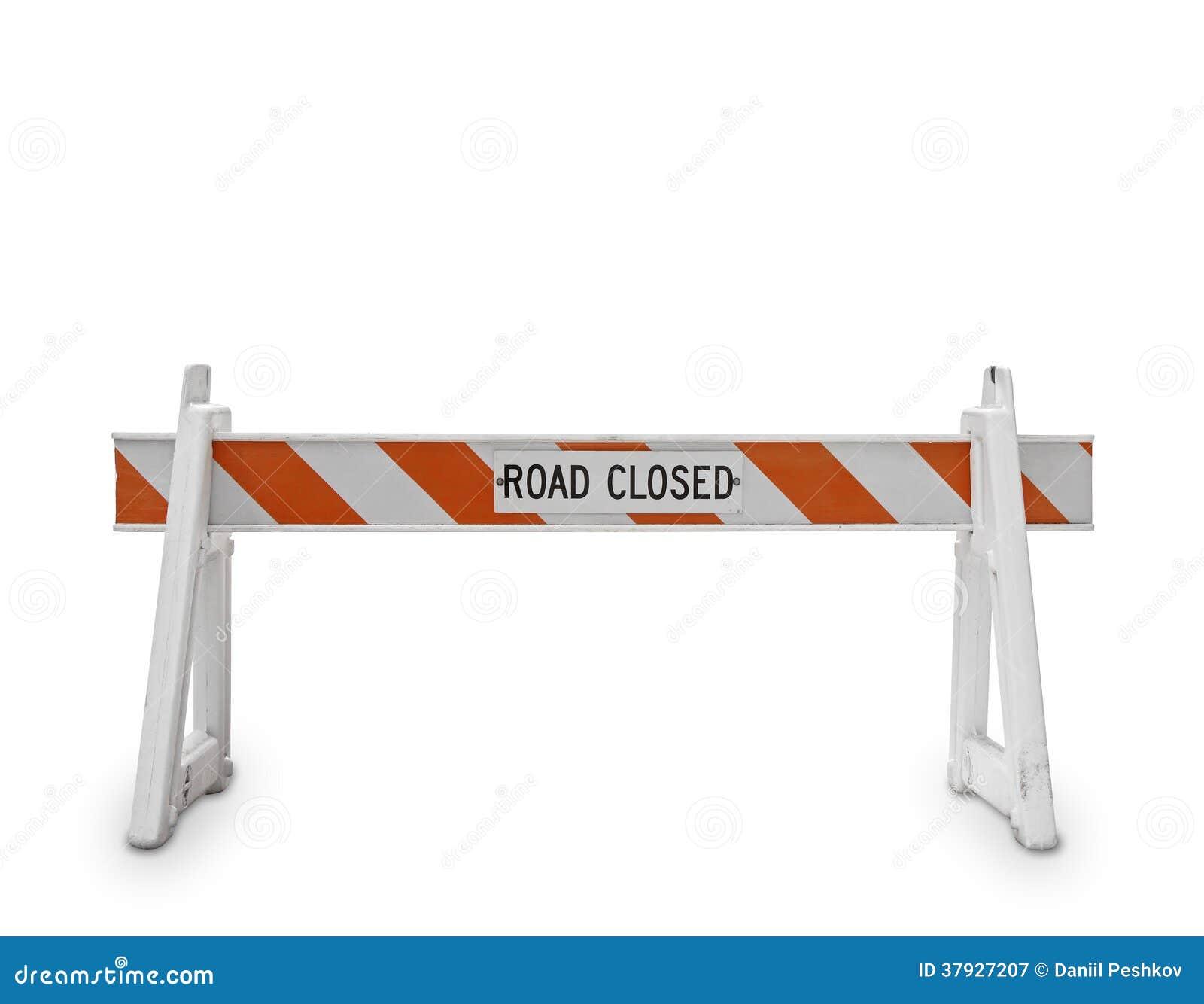 Символ дороги закрытый