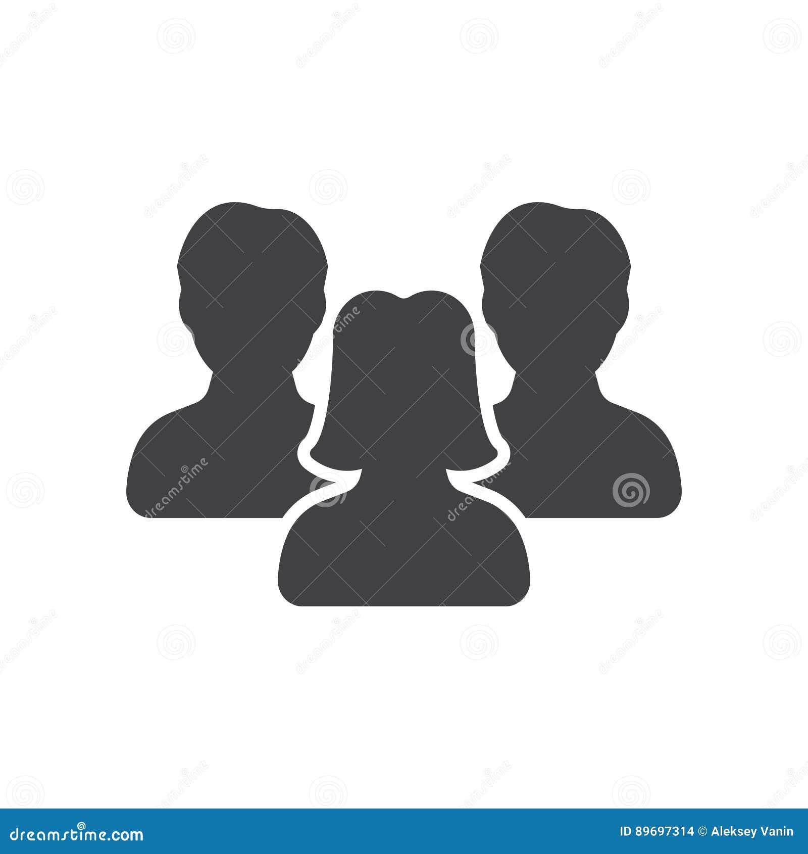 Символ руководства ` s женщин, вектор значка людей,