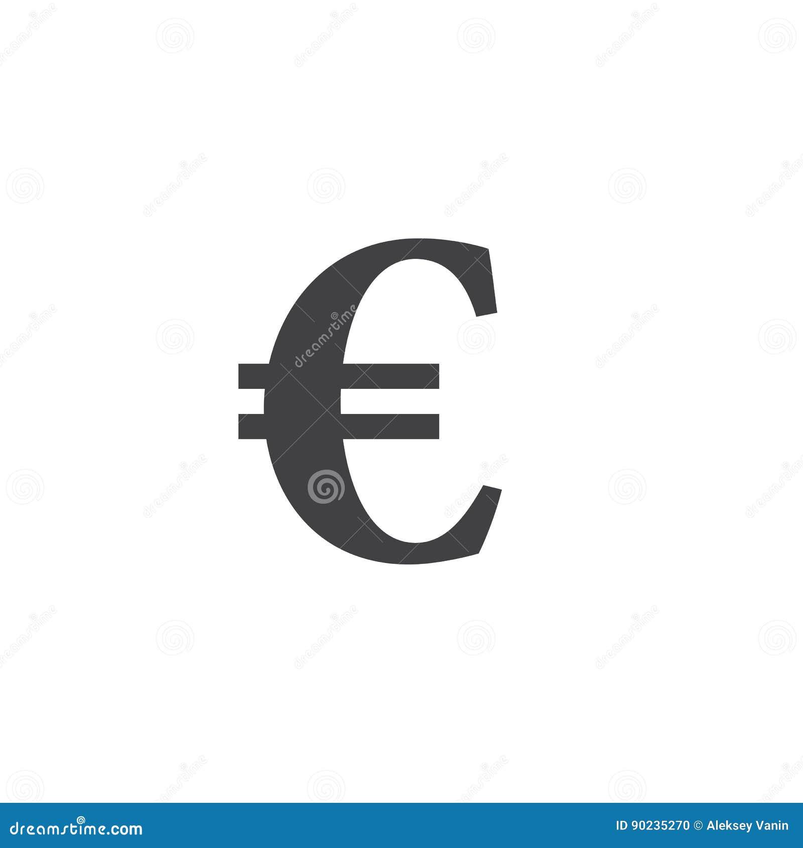 символ серии иллюстраций евро пламенистый подпишите, твердая иллюстрация логотипа, iso пиктограммы