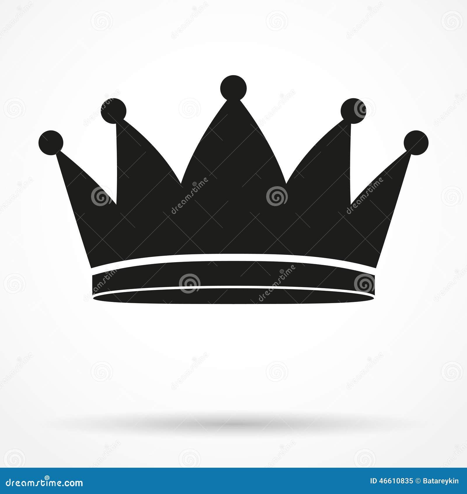 Символ силуэта простой классического королевского короля