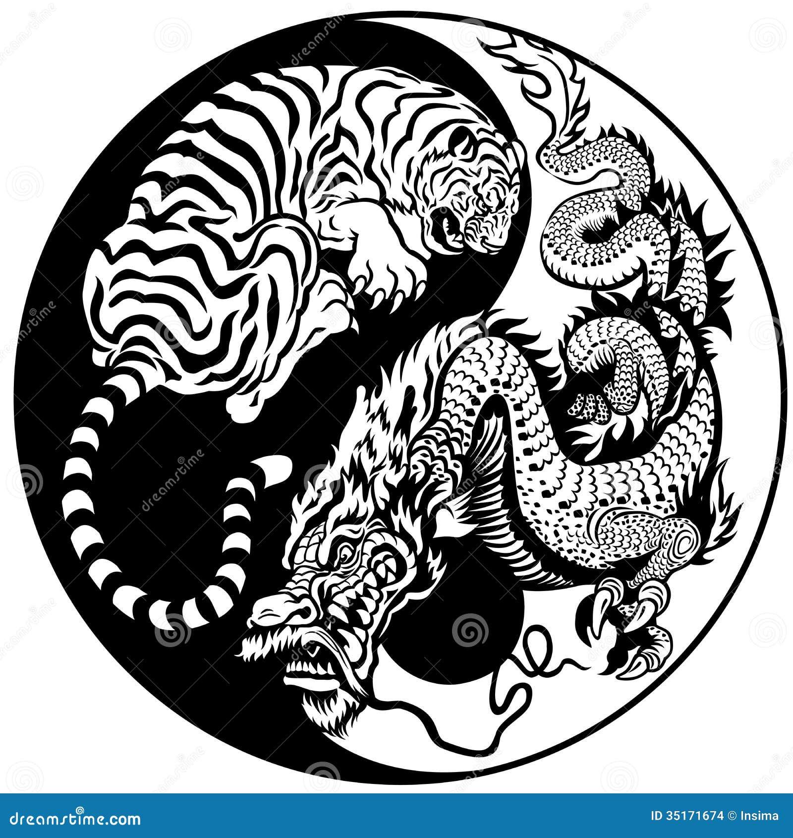 дракон со знаком инь янь
