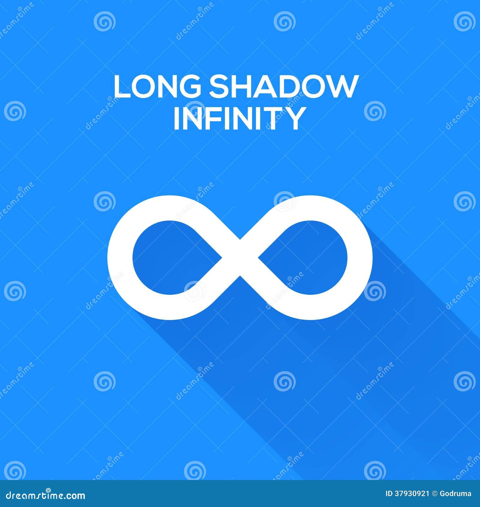 Символы безграничности с длинной тенью