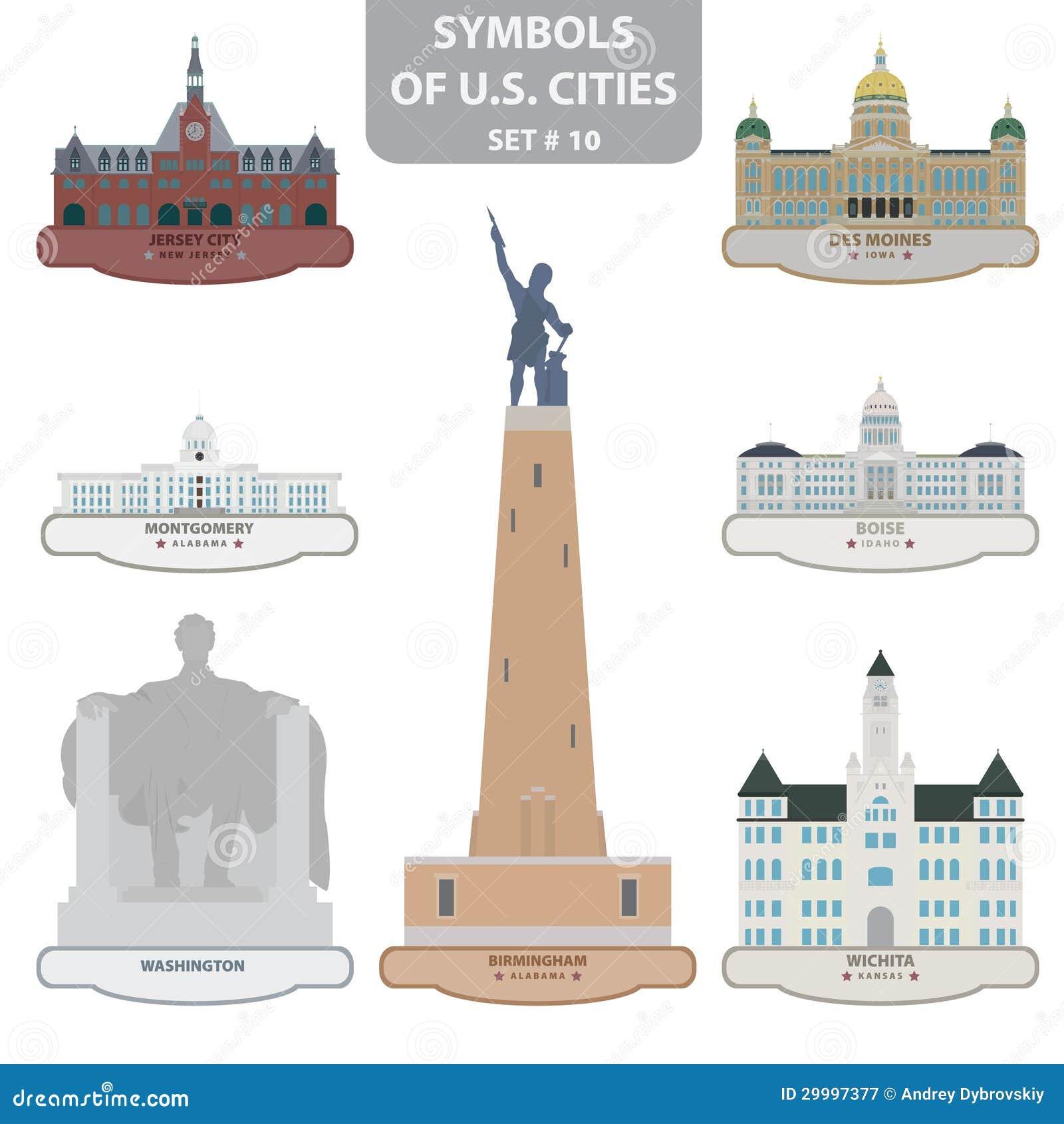 Символы городов США