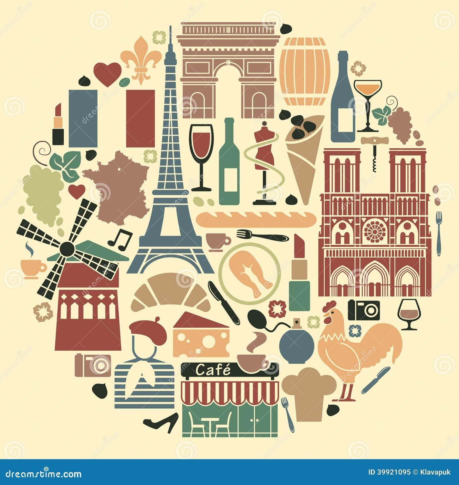 Символы франции в форме круга
