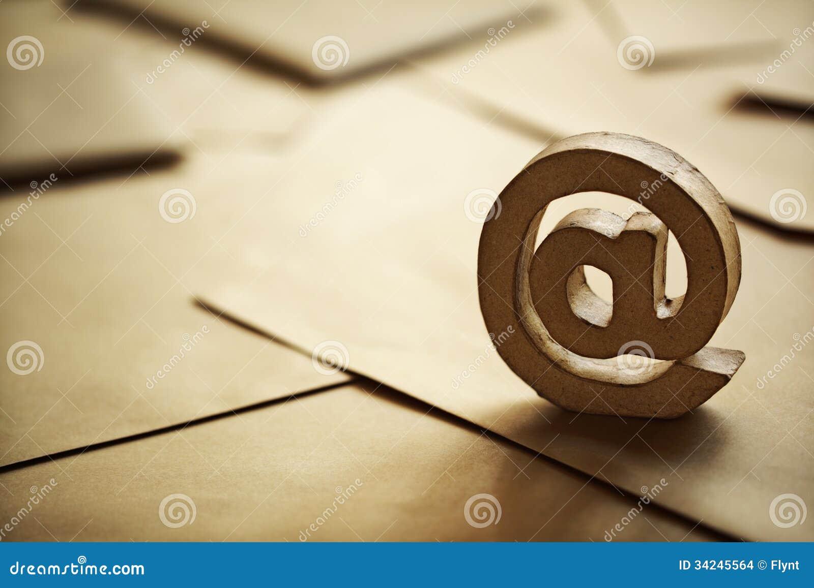 Символ электронной почты @