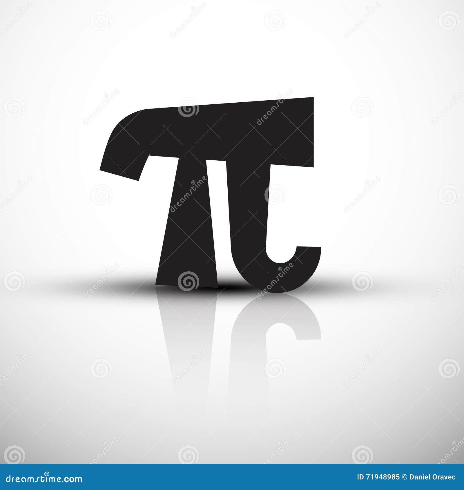 Символ Pi - значок вектора - черная иллюстрация pi