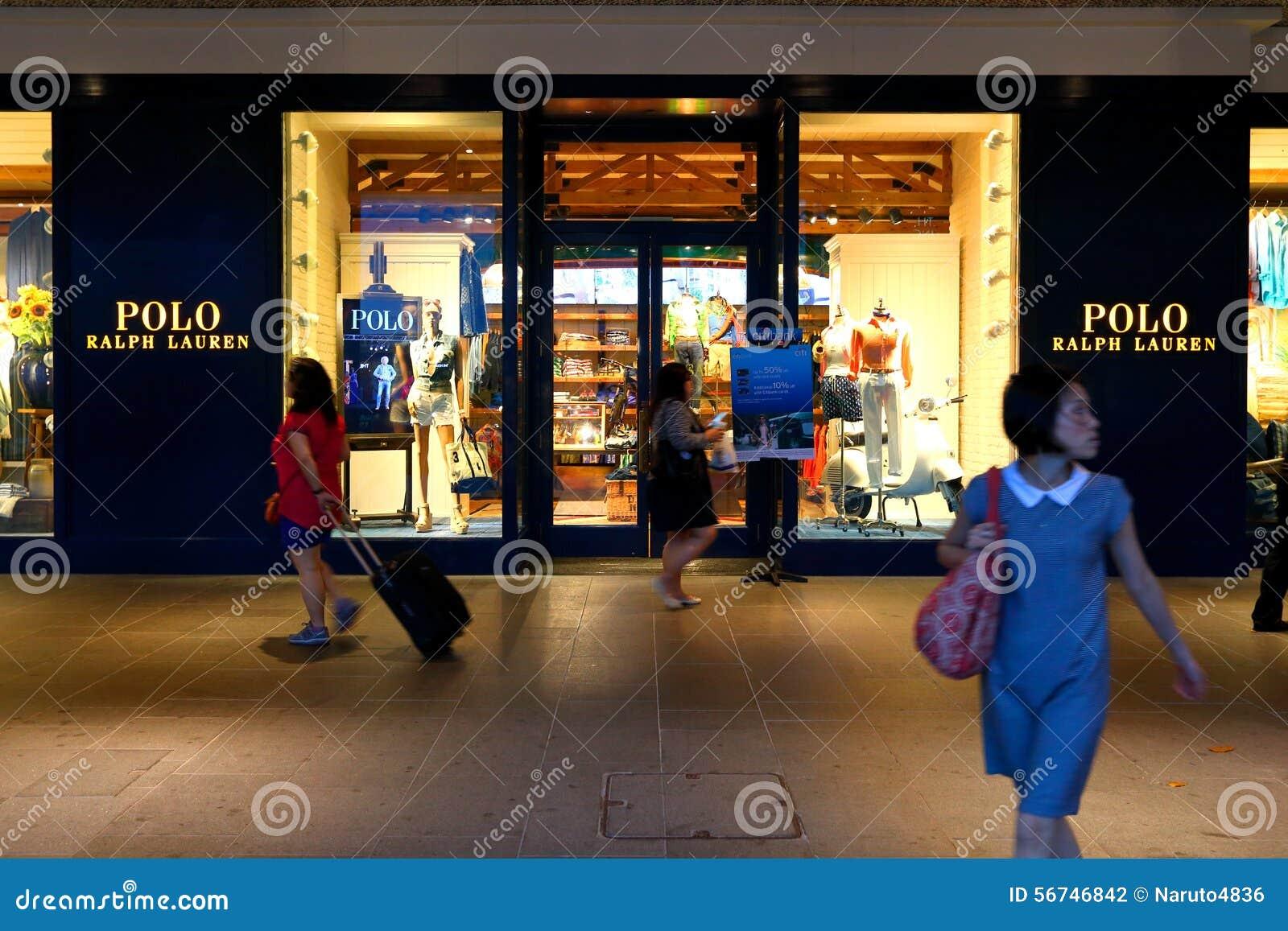 520dcb3db3b0 Сингапур: Магазин розничной торговли Поло Ральф Лорен Редакционное ...