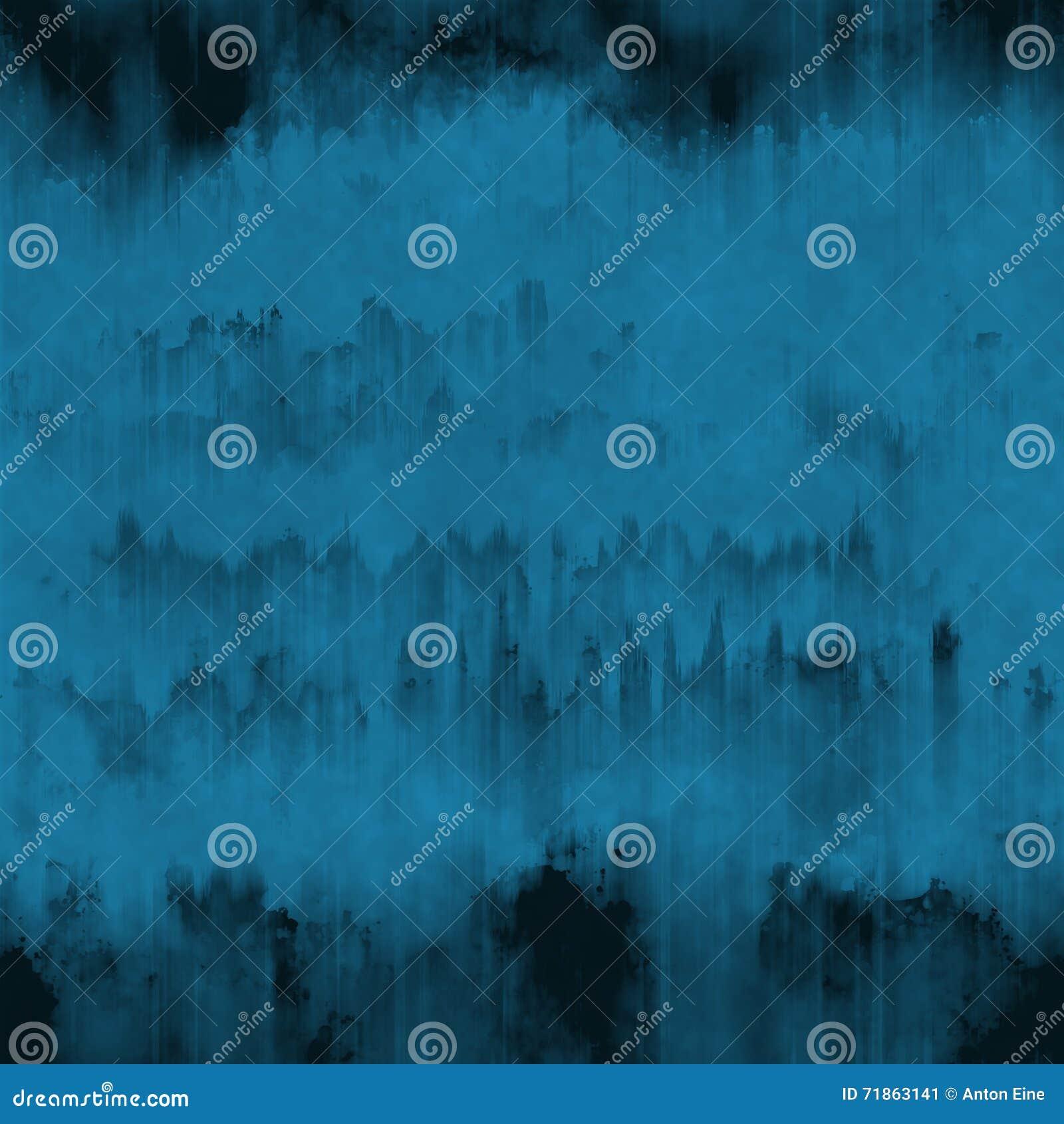 Синие чернила grunge бегут и штрихуют предпосылка