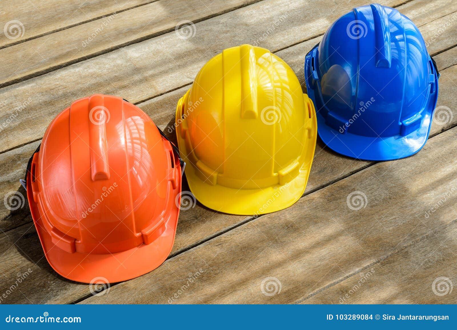 Синь, апельсин, желтая трудная шляпа конструкции шлема безопасности для saf