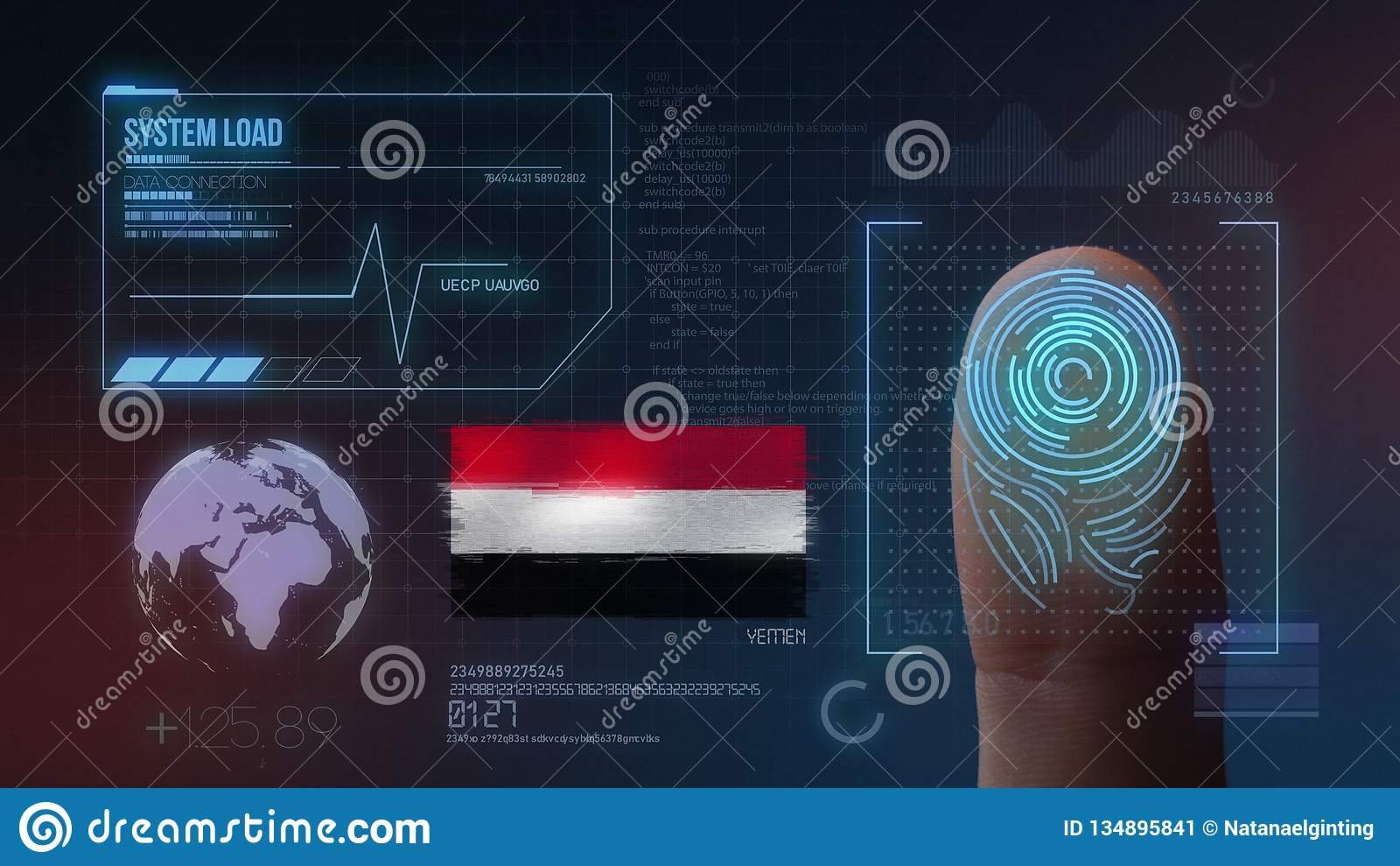 Система опознавания отпечатка пальцев биометрическая просматривая Национальность Йемен
