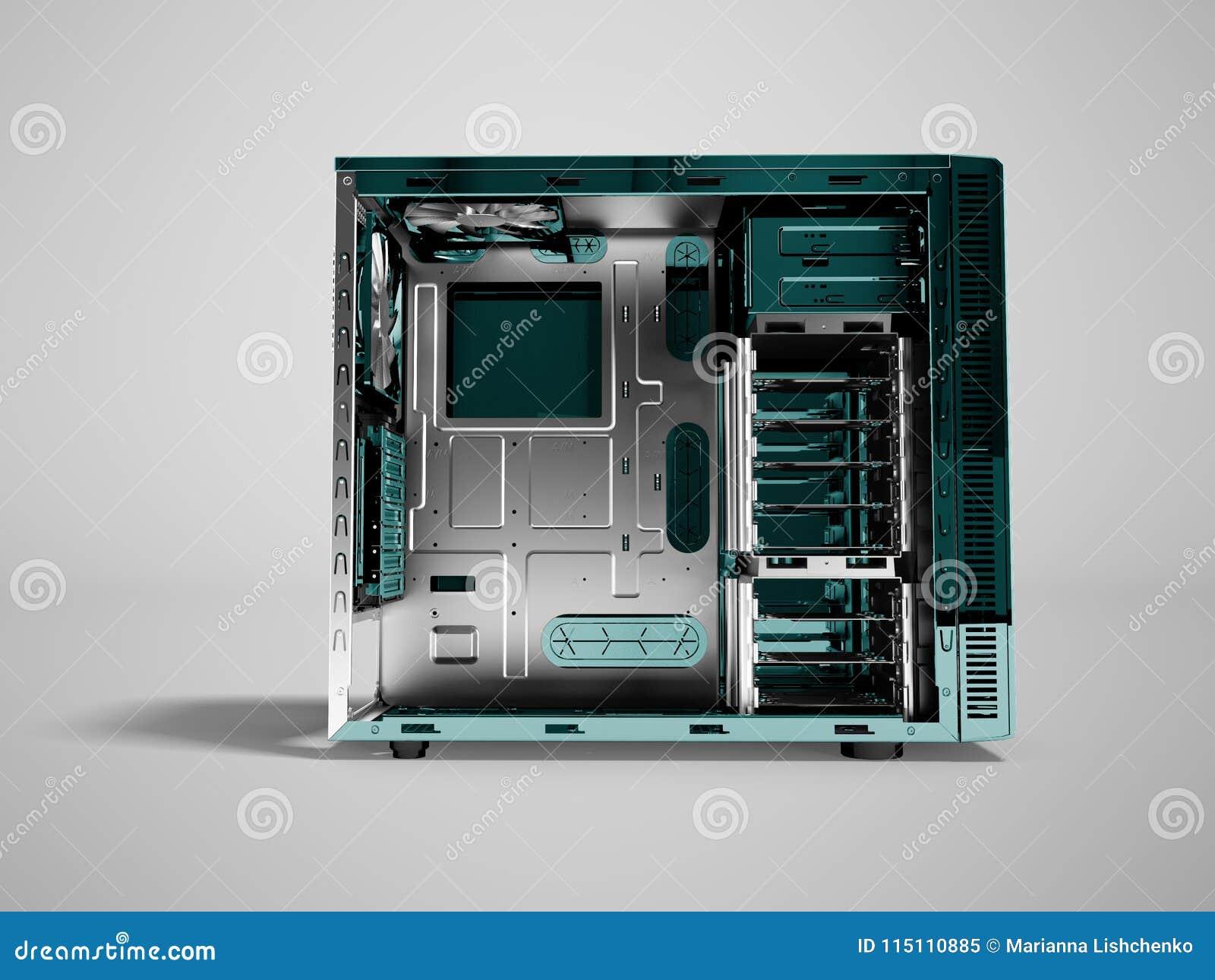 Системный блок для перевода фронта 3d медного штейна пробела компьютера дальше