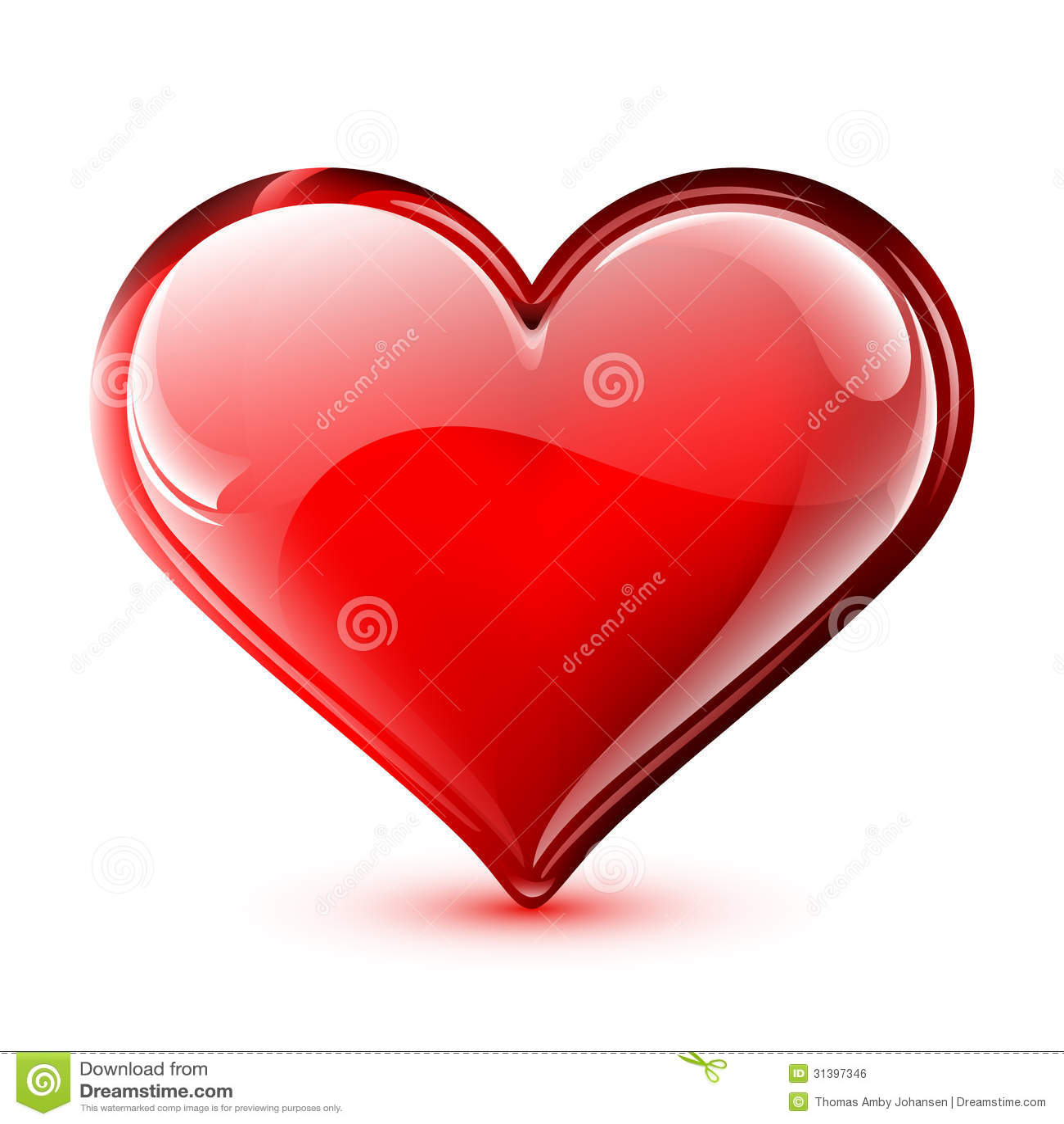 Сияющее сердце вектора