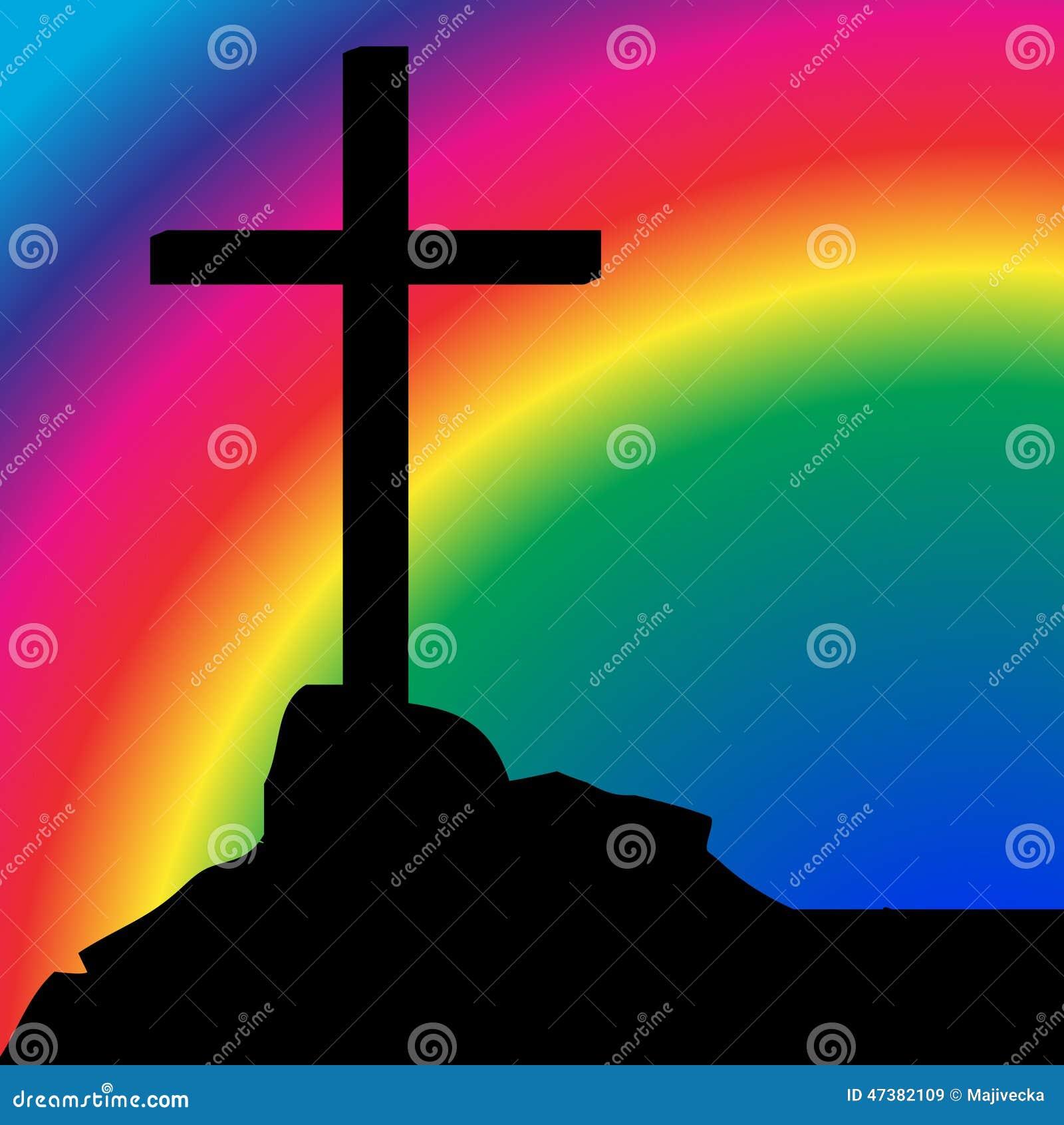 Силуэт вектора креста