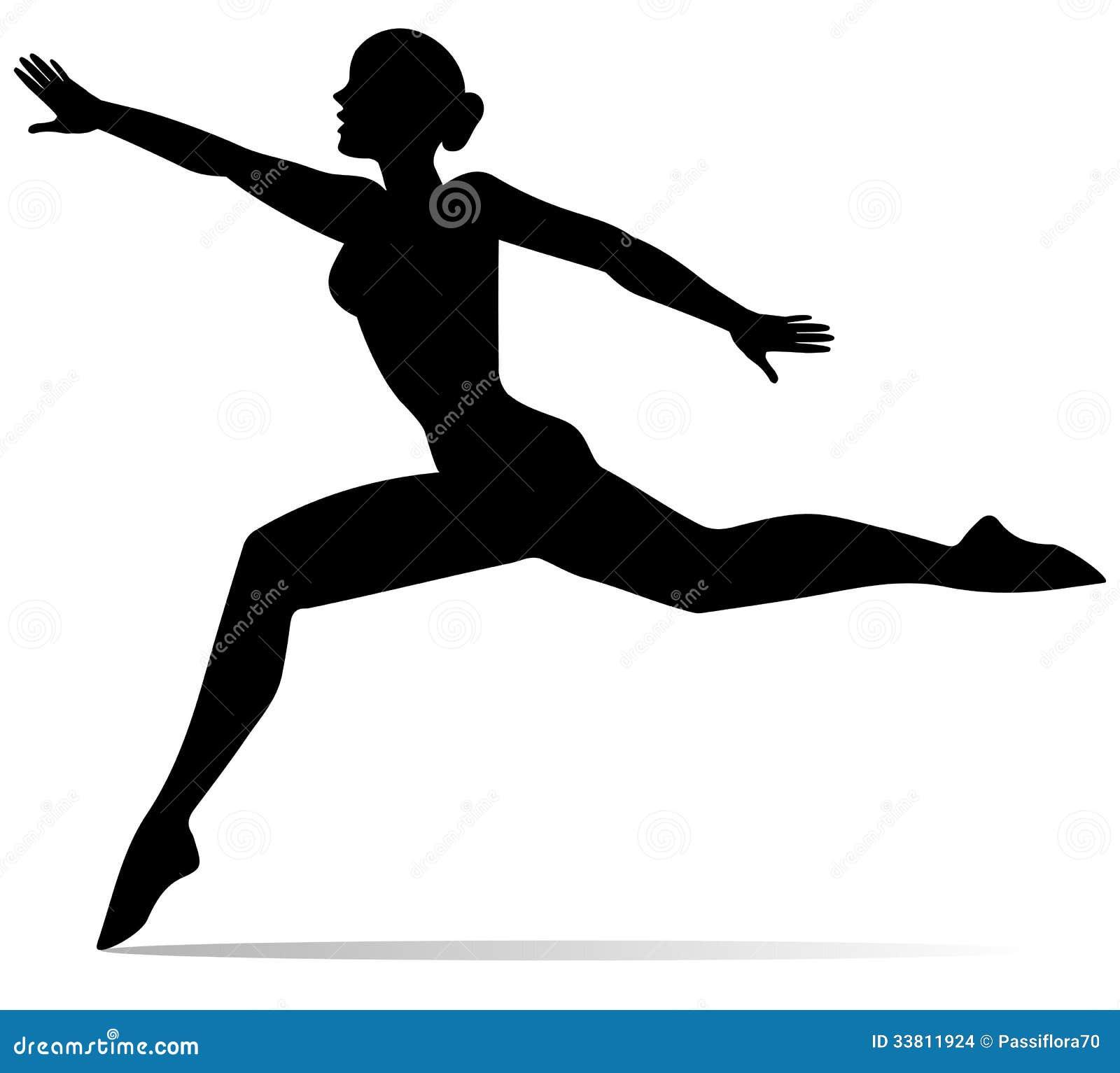 Силуэт девушки танцора