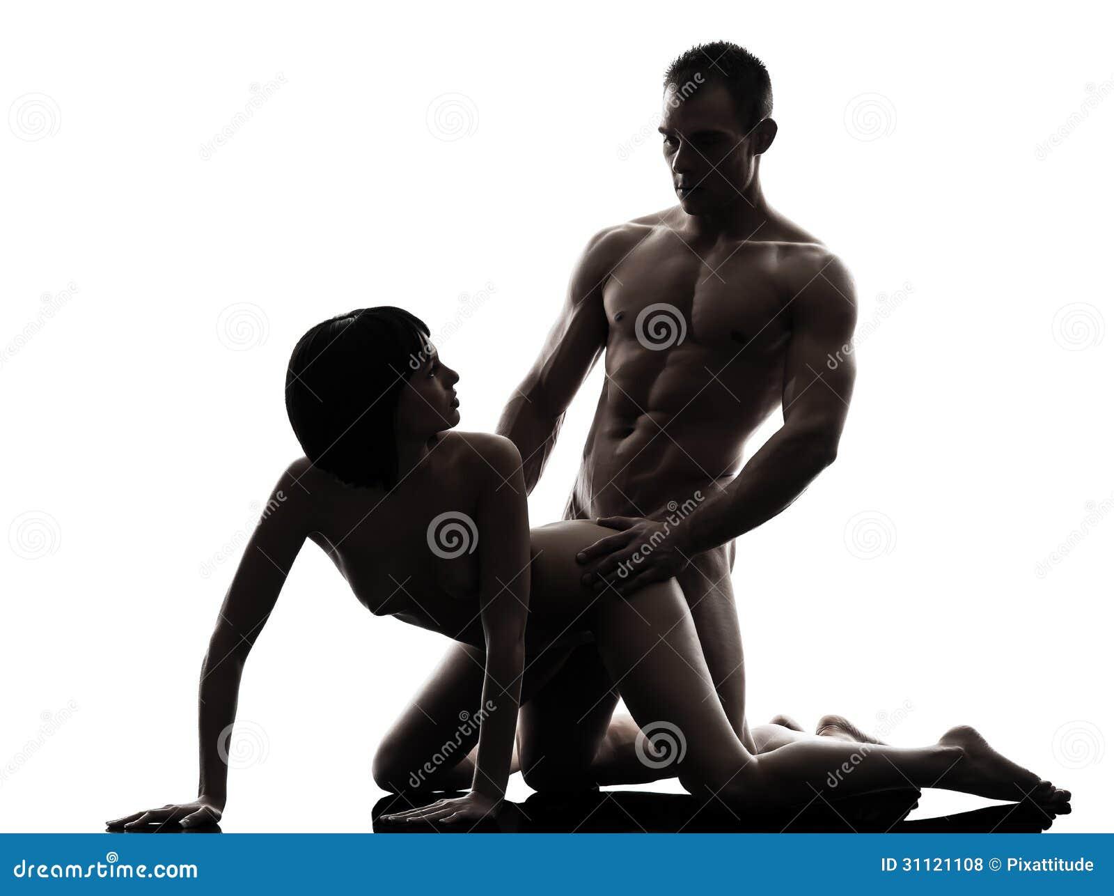 Силуэт пара секс