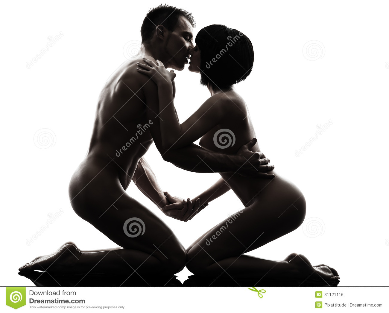 Сексуальные силуэты мужчин и женщин
