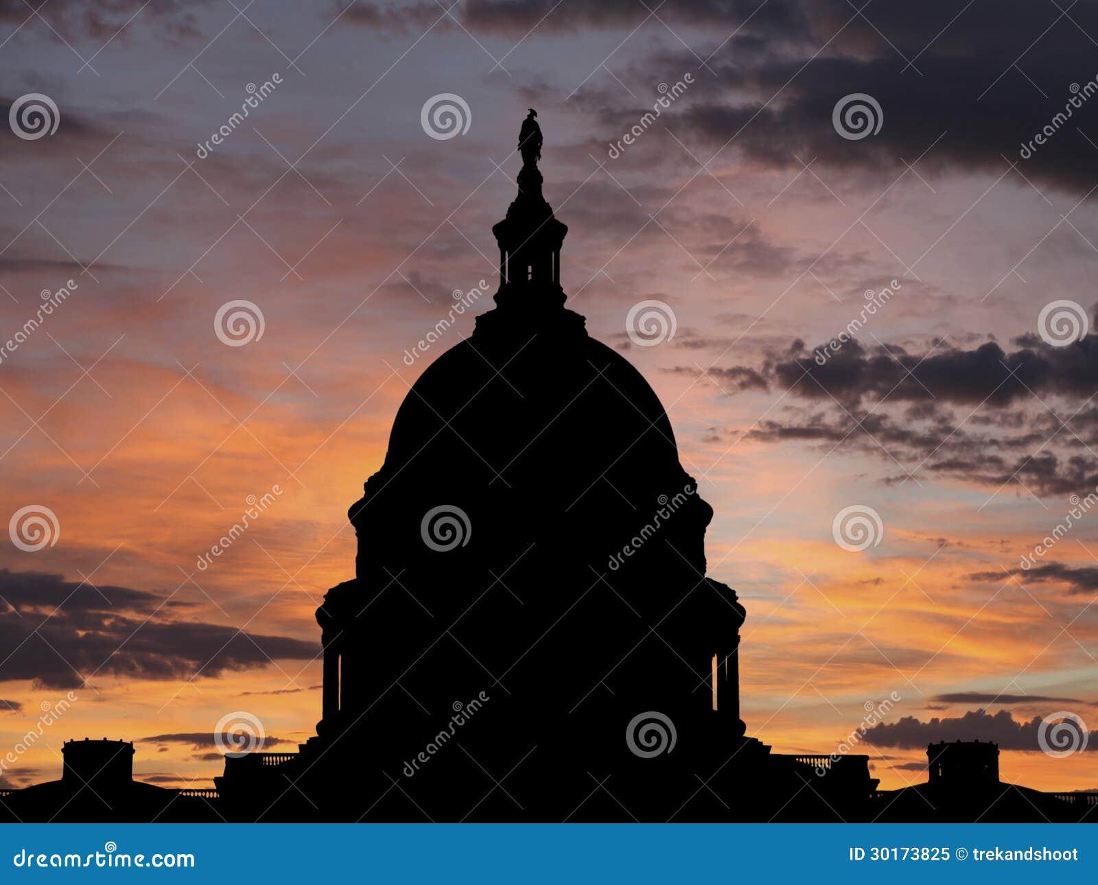 Восход солнца капитолия Соединенные Штаты