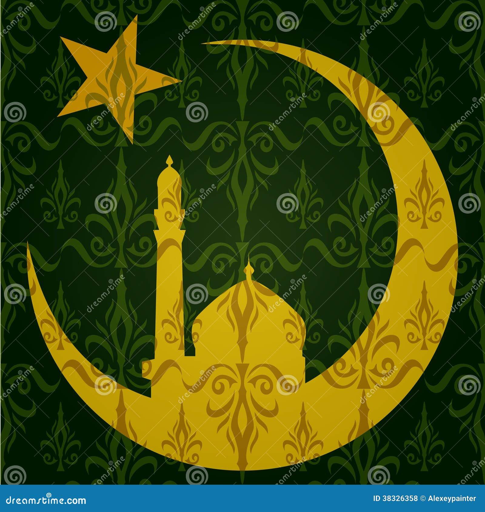Месяц мусульманский на тату