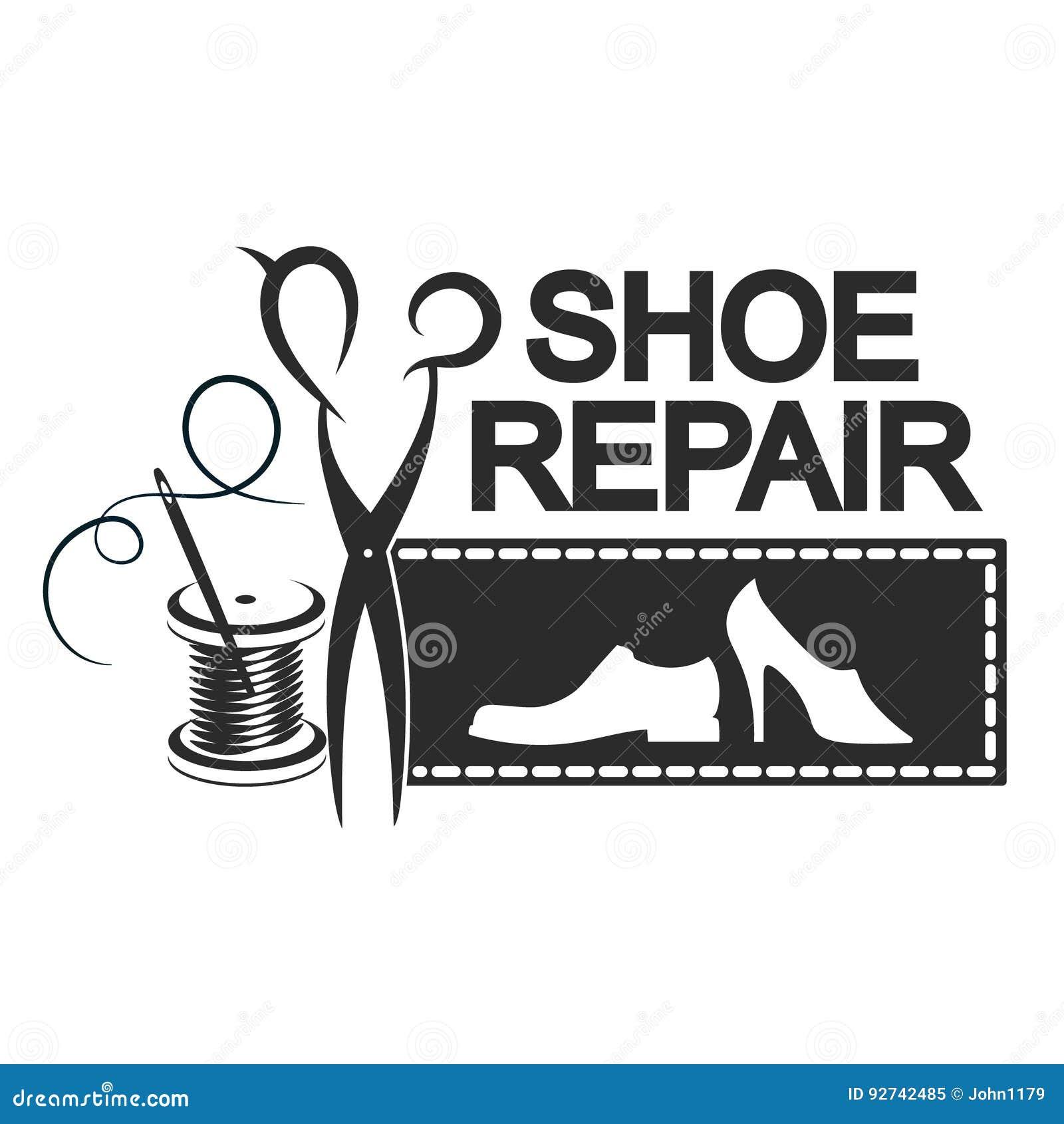 Силуэт ремонта ботинка