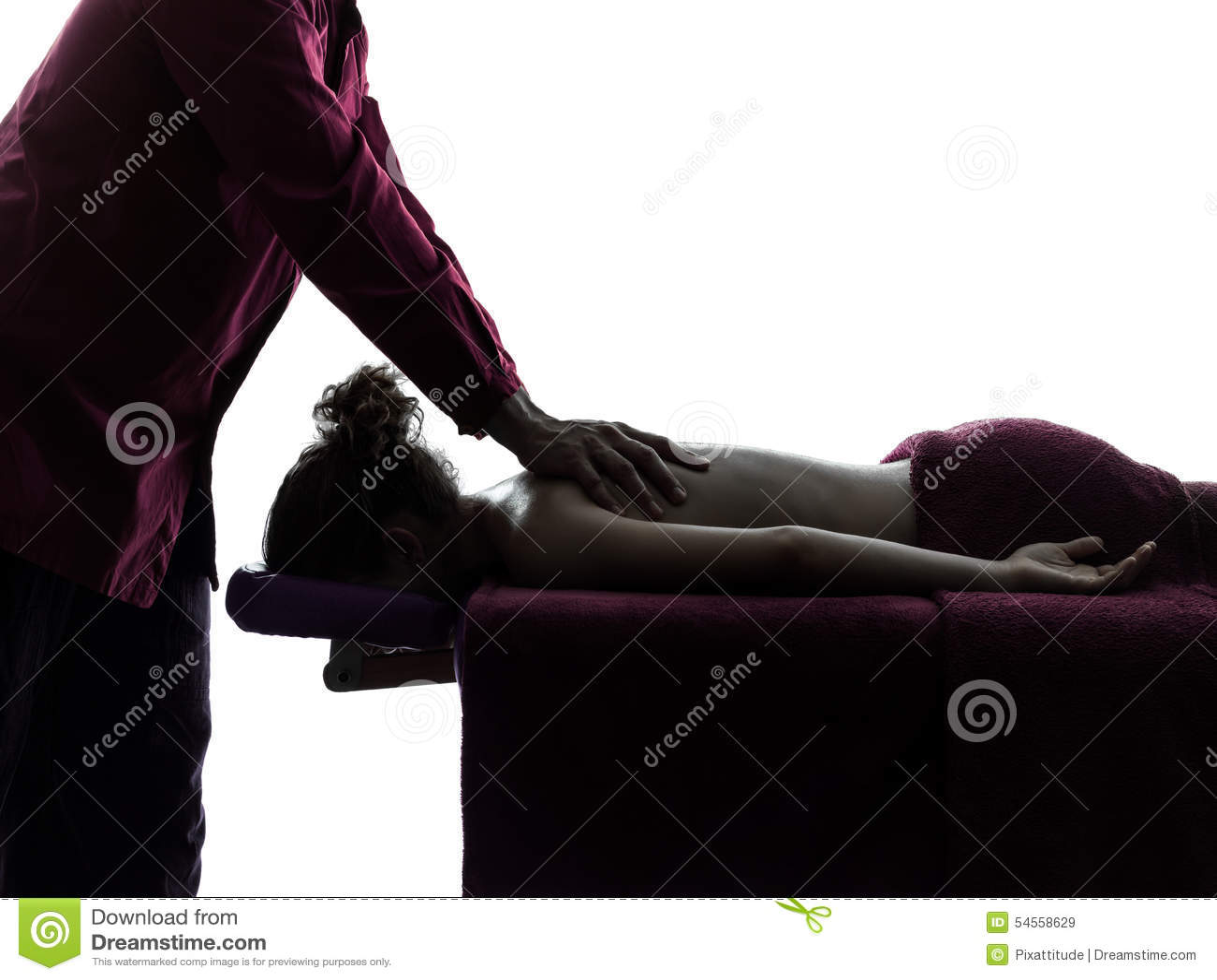 Силуэт терапевта массажа