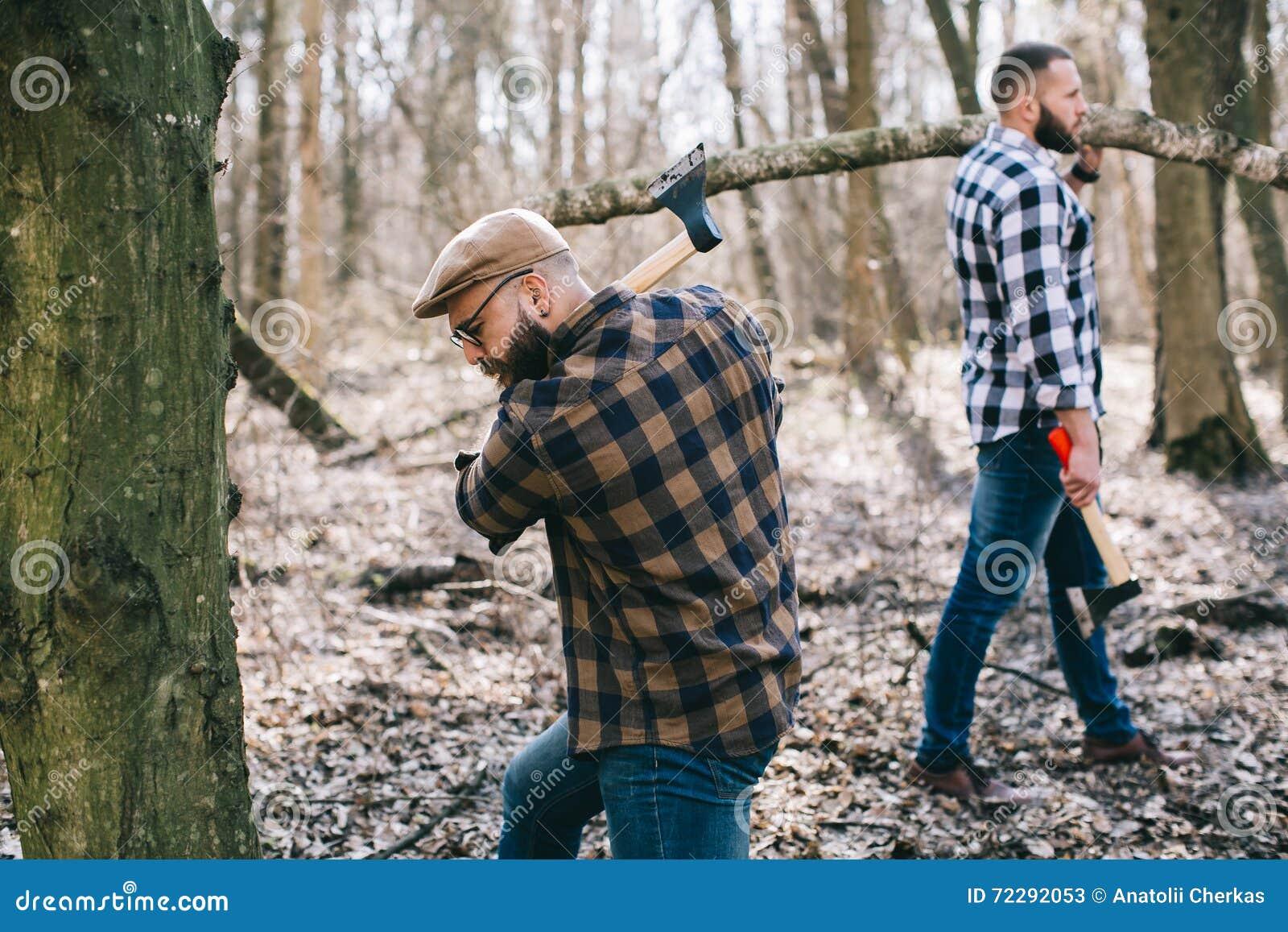 Download Сильный Lumberjack прерывая древесину Стоковое Изображение - изображение насчитывающей трудолюбиво, ванта: 72292053