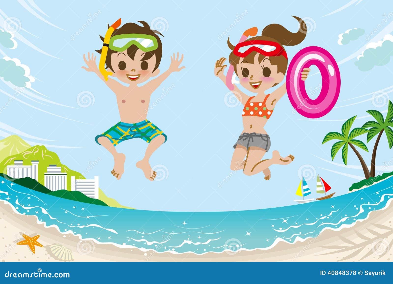 Картинки детей летом на пляже