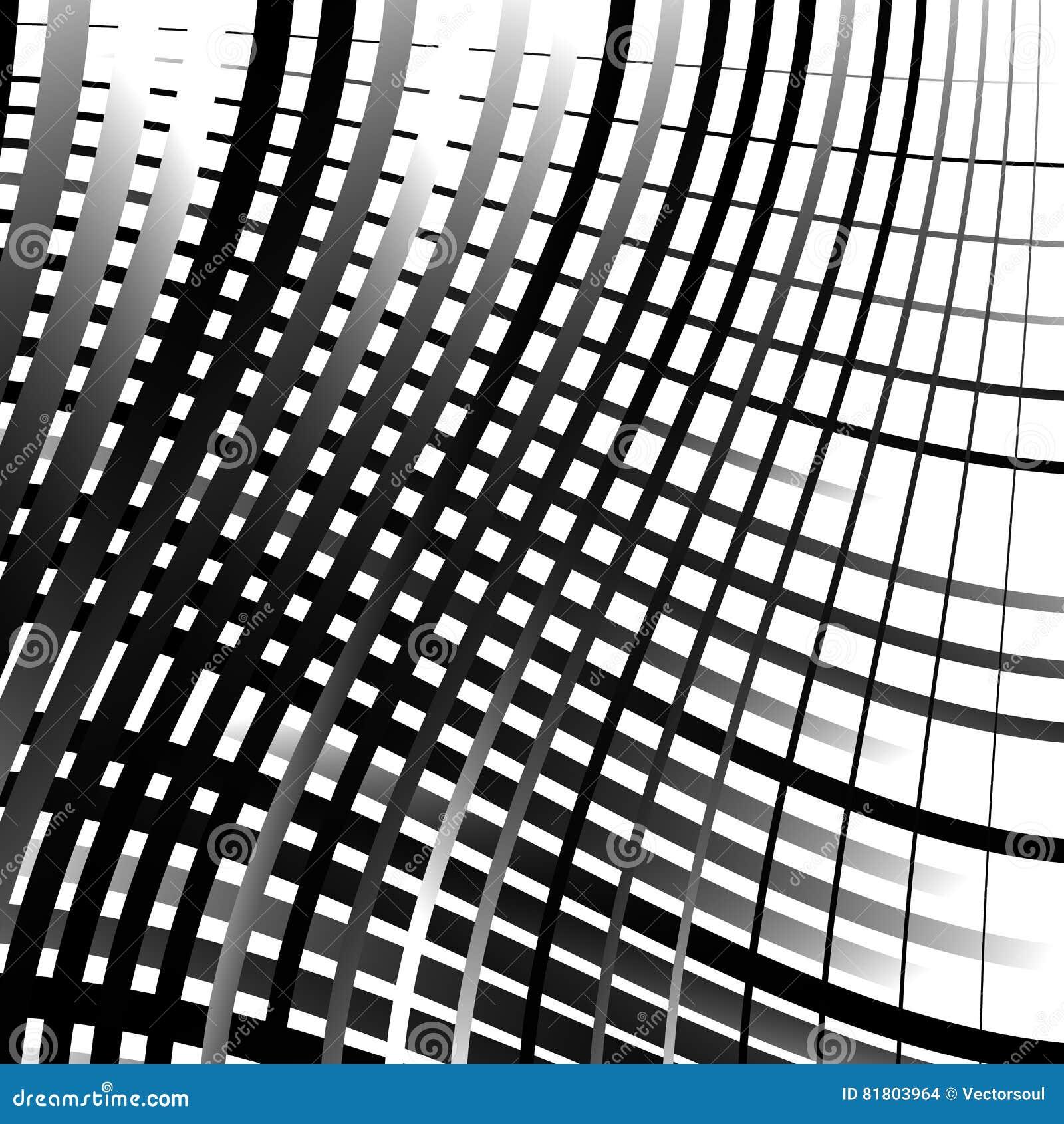 Скачками решетка, картина картины сетки геометрическая минимальная с искривлением