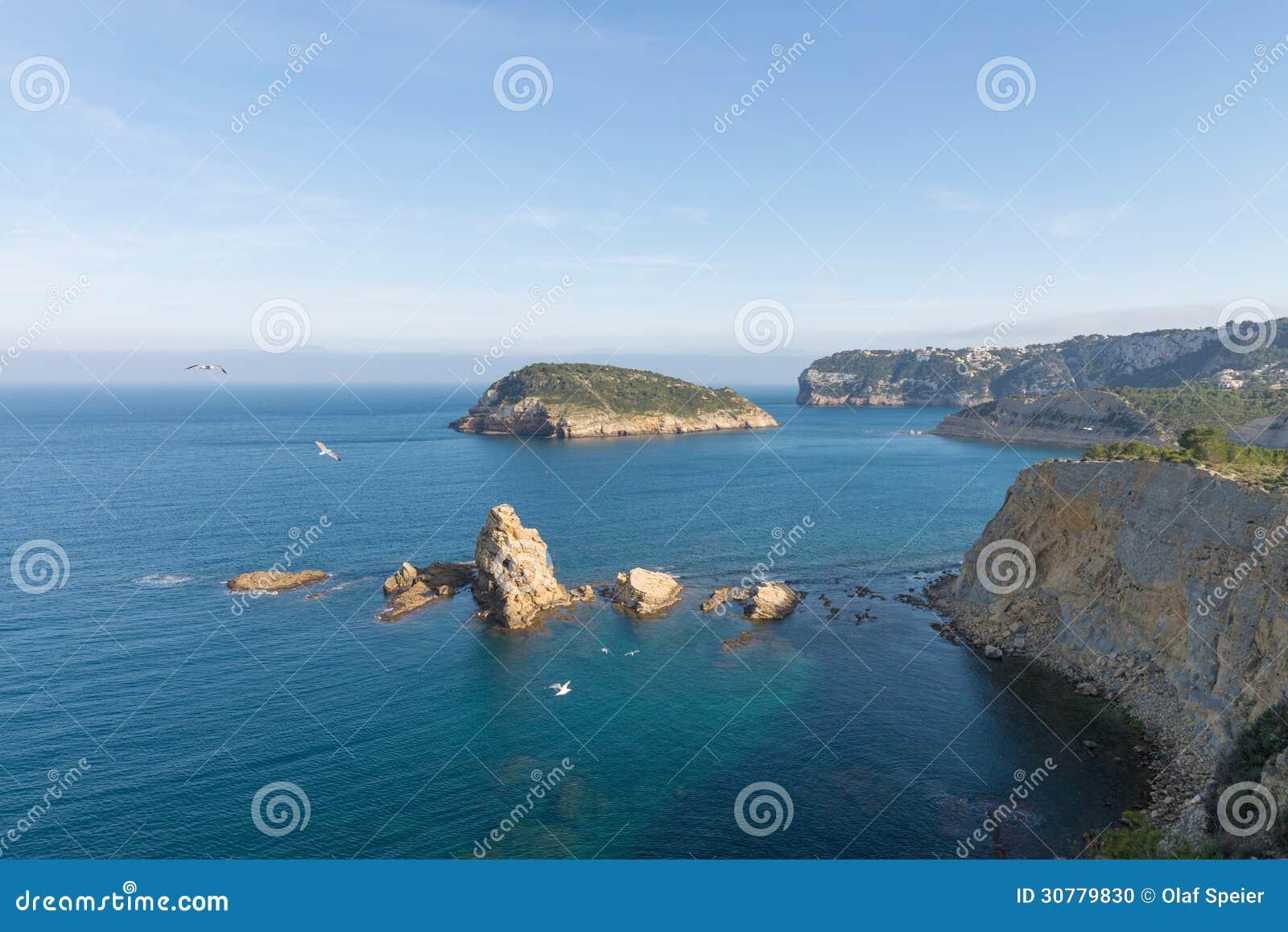 Скачком береговая линия Javea