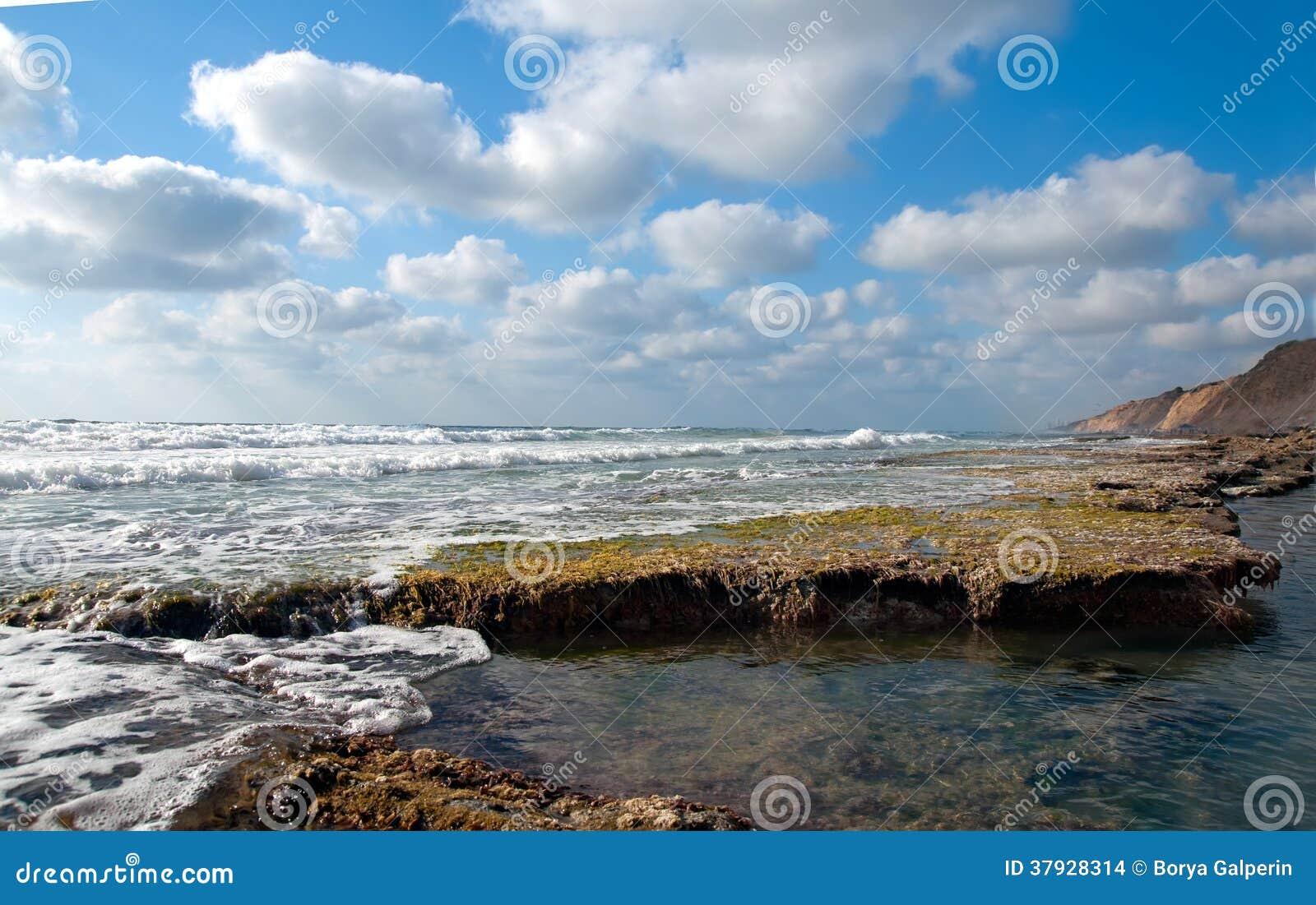 Скалистое морское побережье