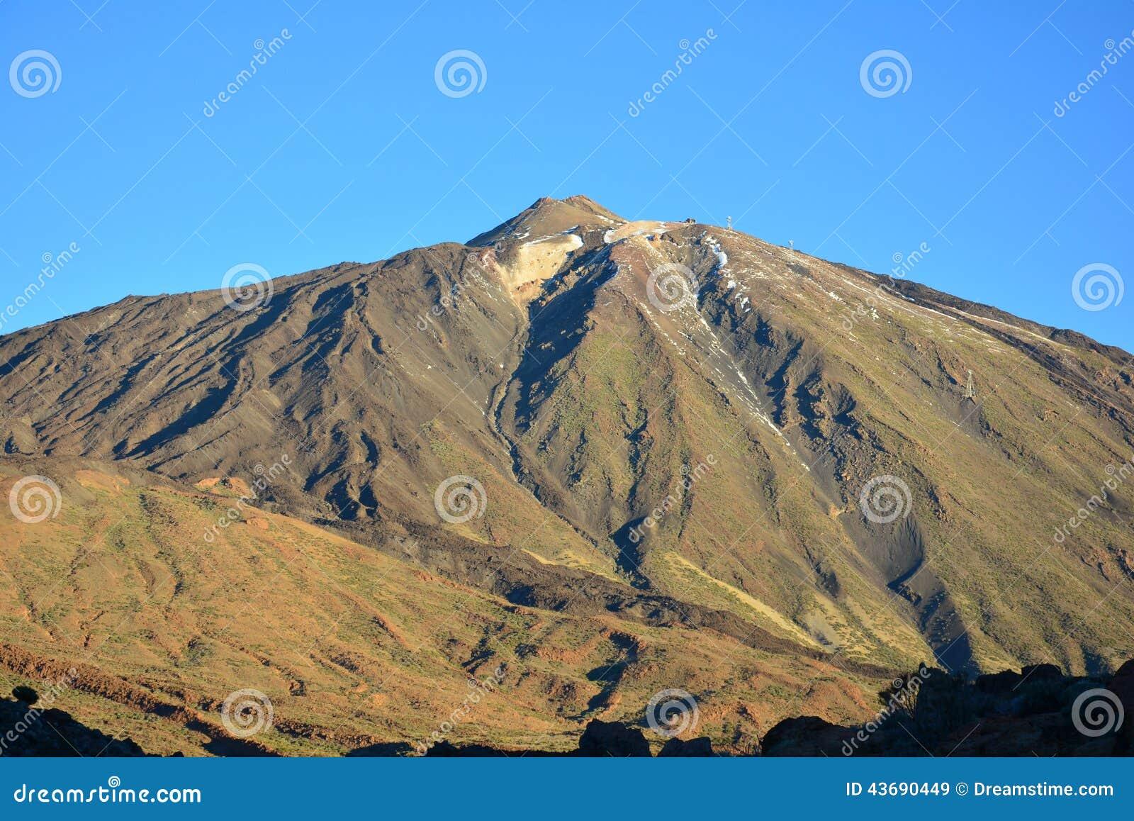 Скалы вулкана лавы горы трясут Платона, восхода солнца в горах, ландшафта горы, ландшафта, Teide