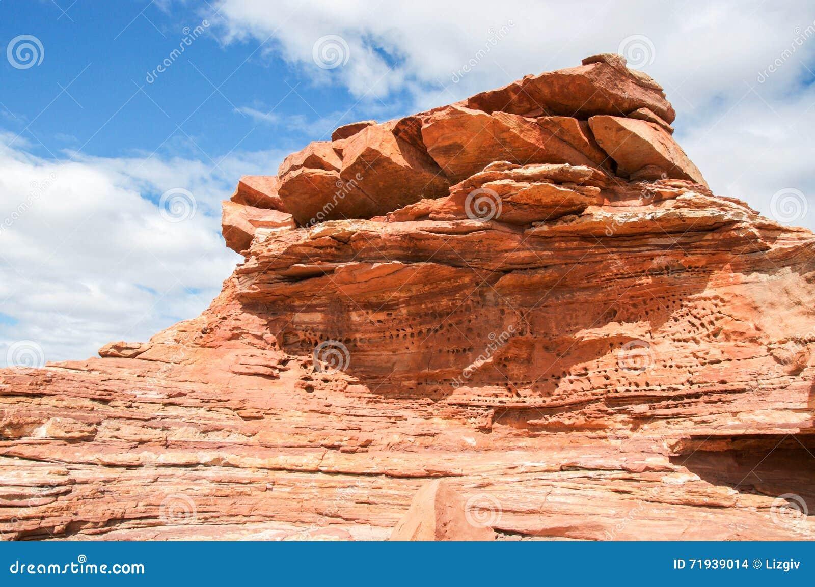 Скалы песчаника: Kalbarri, западная Австралия