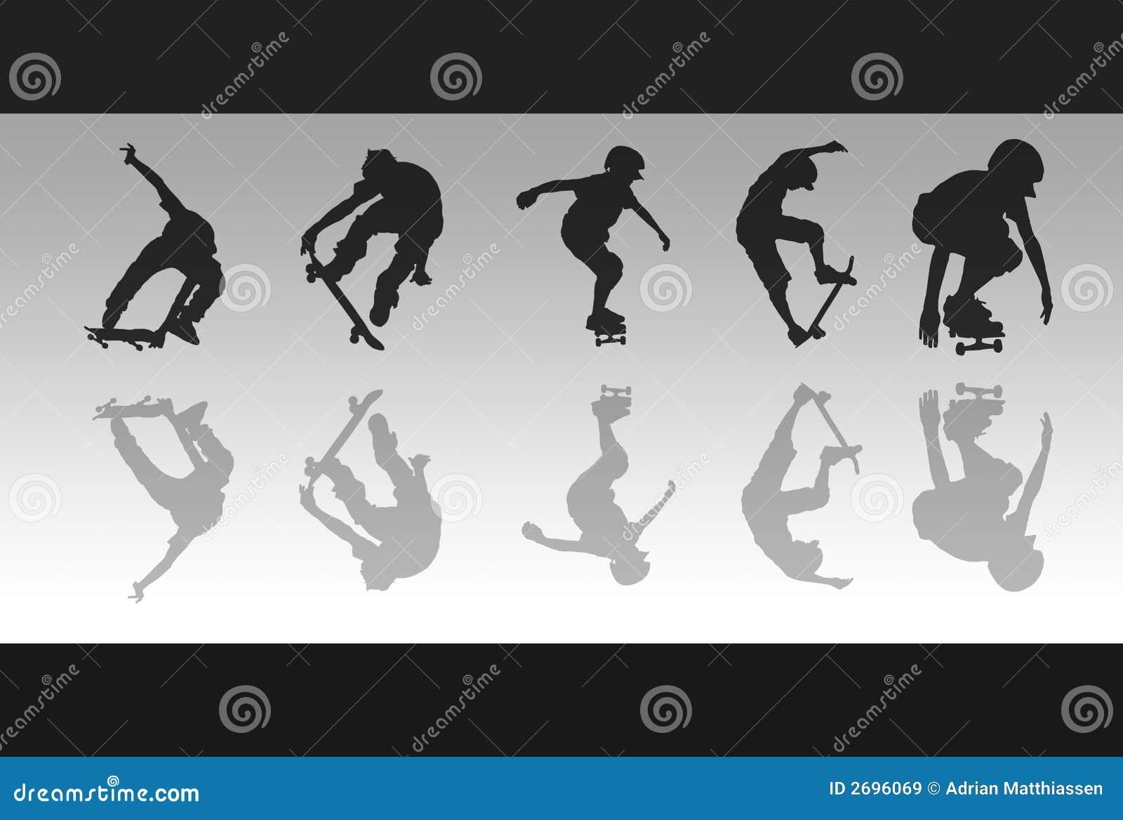 скейтборд отражений