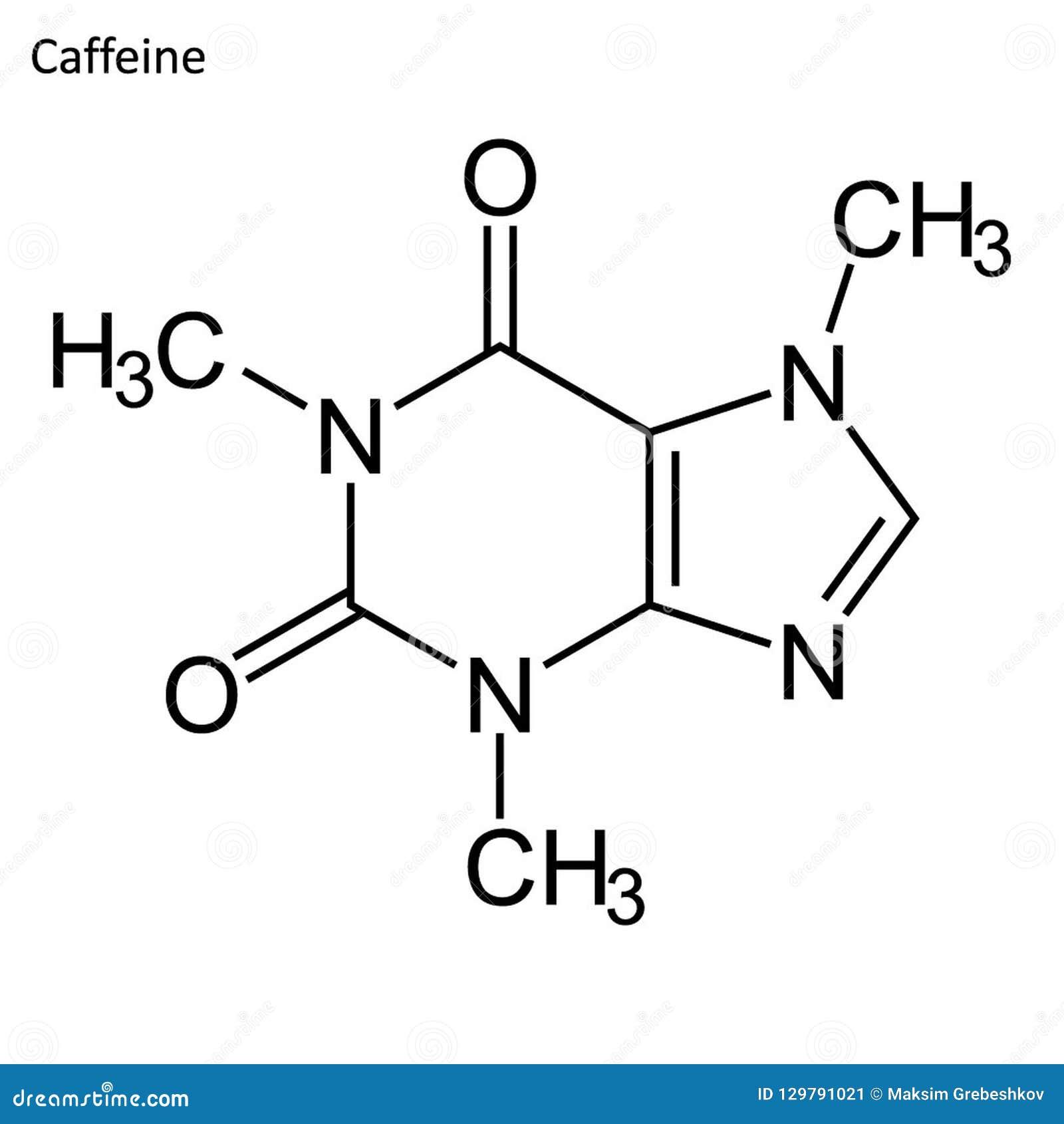 Скелетная формула кофеина