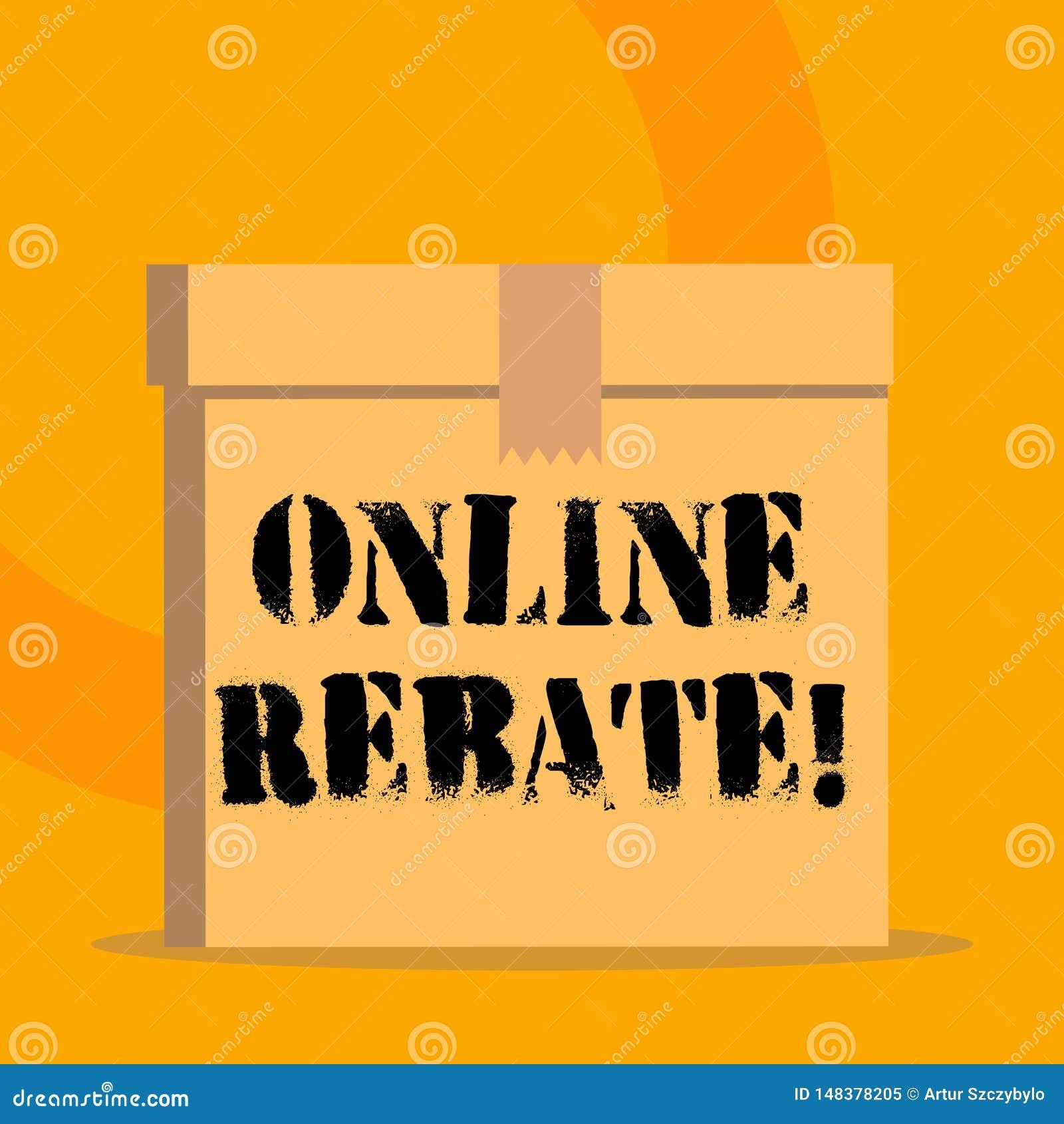 Скидка текста почерка онлайн Концепция знача возвращение части покупательной цены продавцом в покупателя