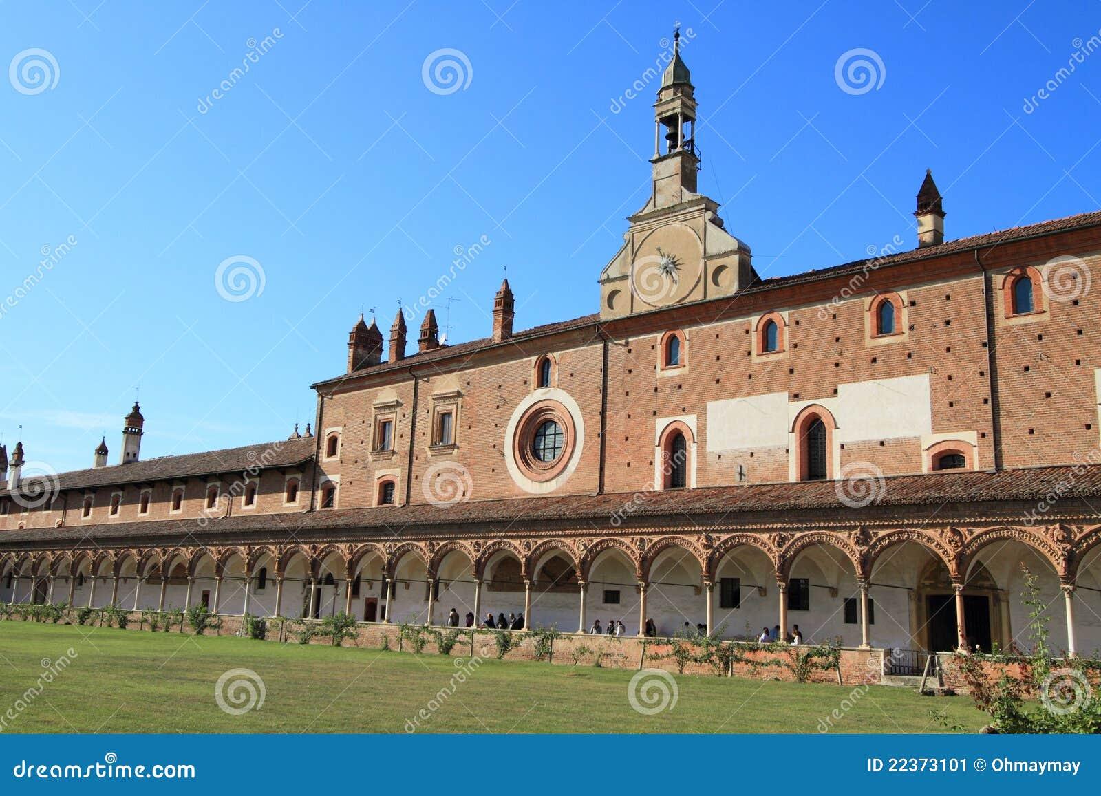скит pavia Италии di certosa средневековый