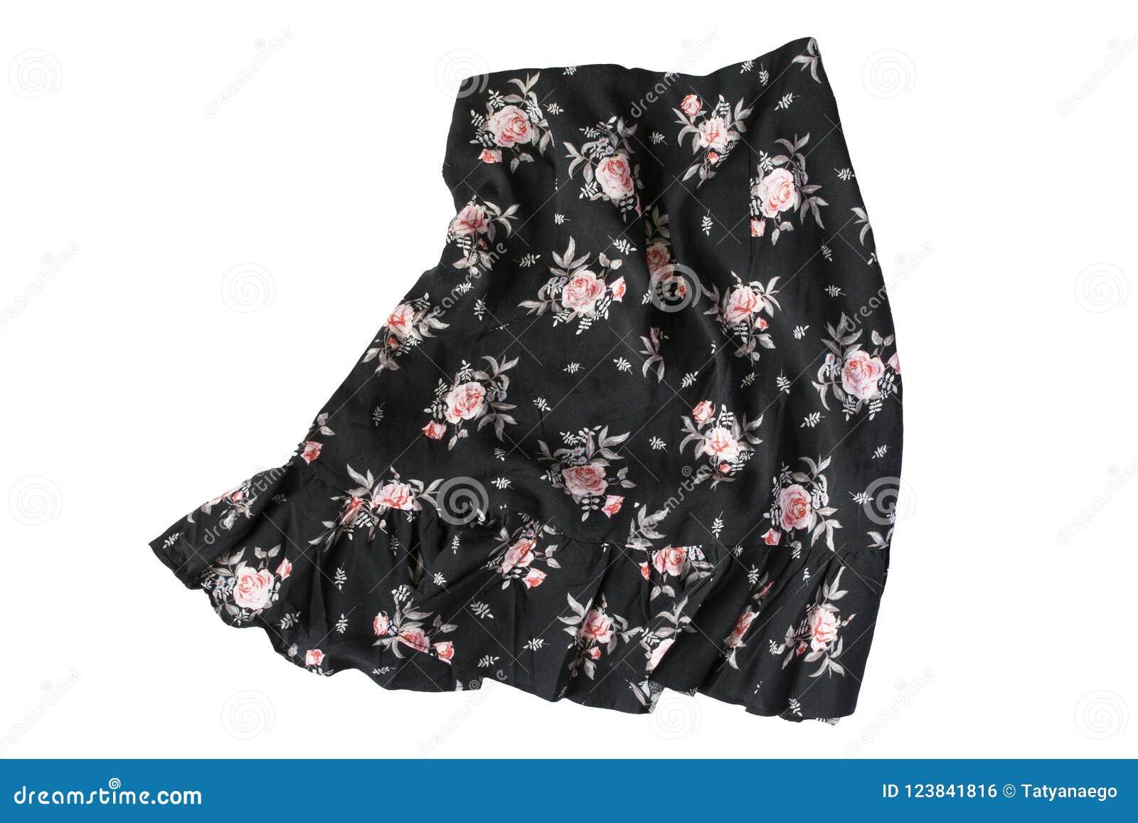 Скомканная изолированная юбка