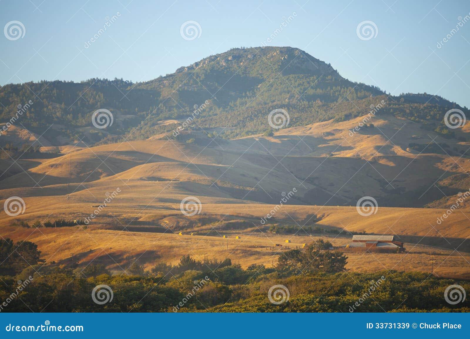 Скотоводческое хозяйство холмов, San Simeon, Калифорния