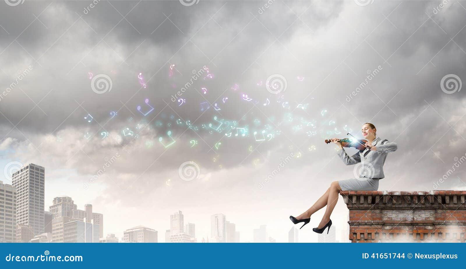 Скрипач женщины