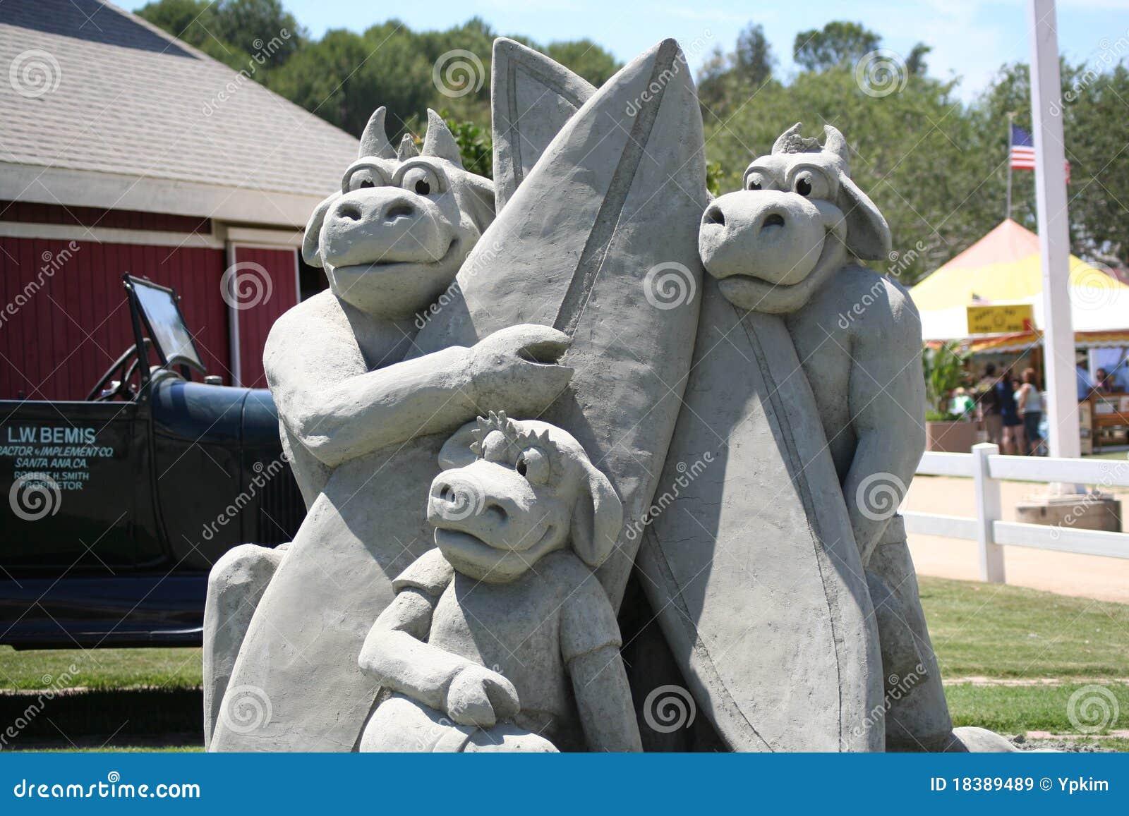 скульптура песка ярмарки графства померанцовая