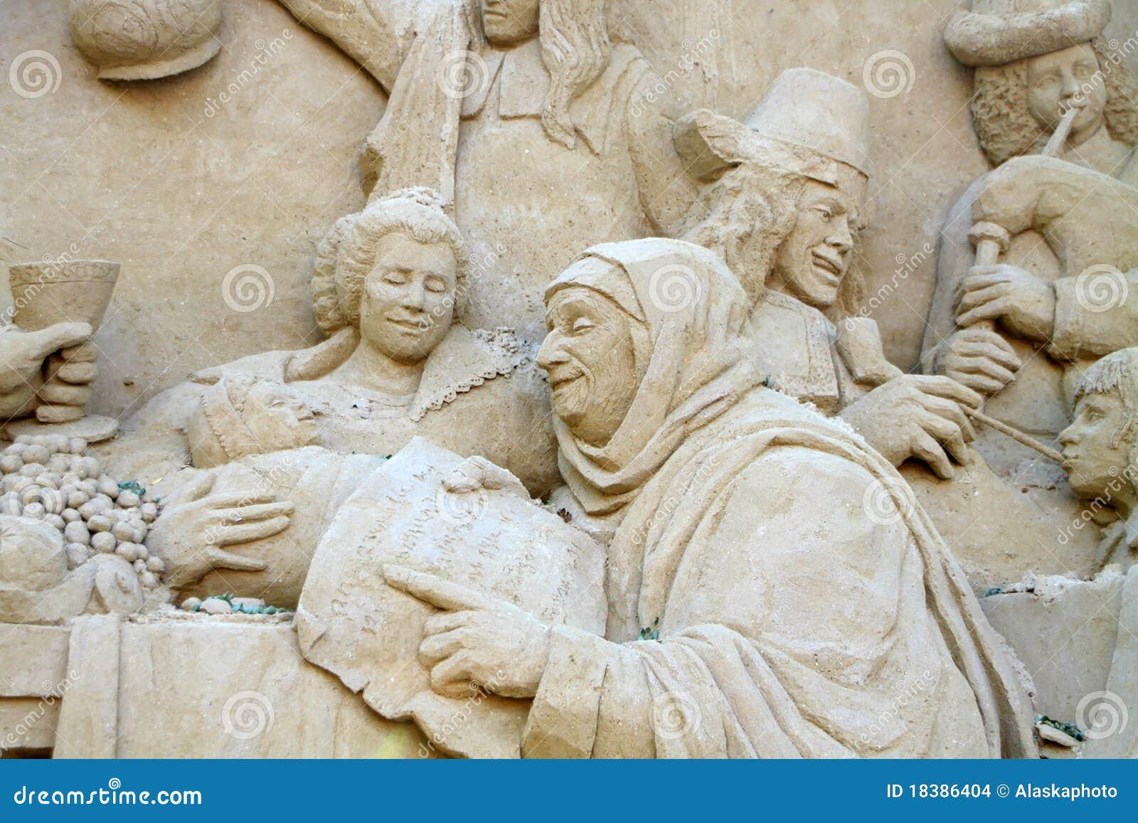 скульптура песка