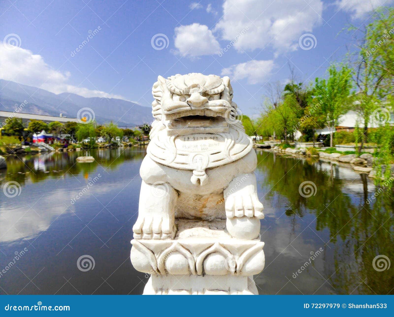 Download Скульптура льва камня XiZhou Стоковое Изображение - изображение насчитывающей востоковедно, пепельнообразные: 72297979