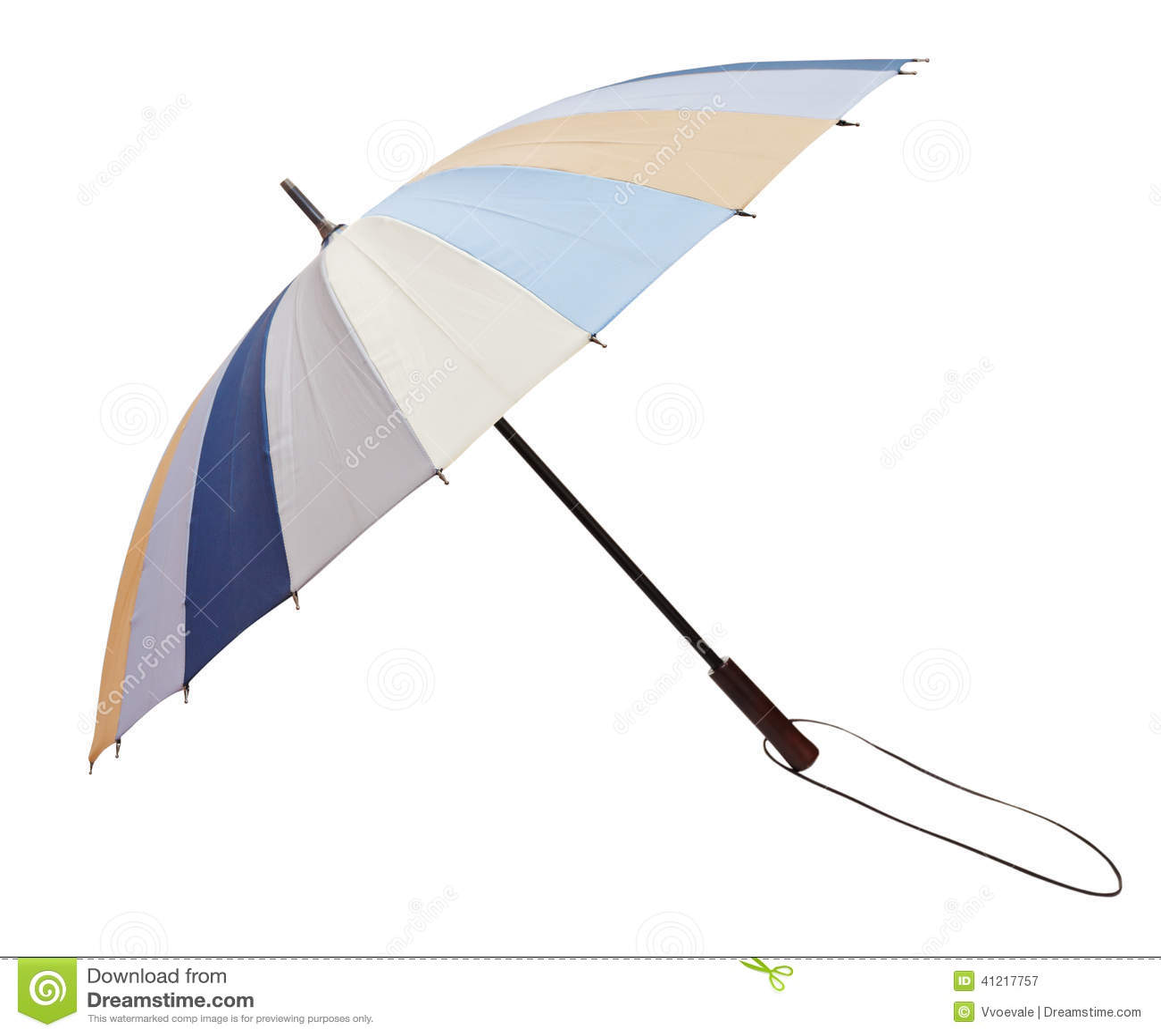 Складчатость Open striped зонтик изолированный на белизне